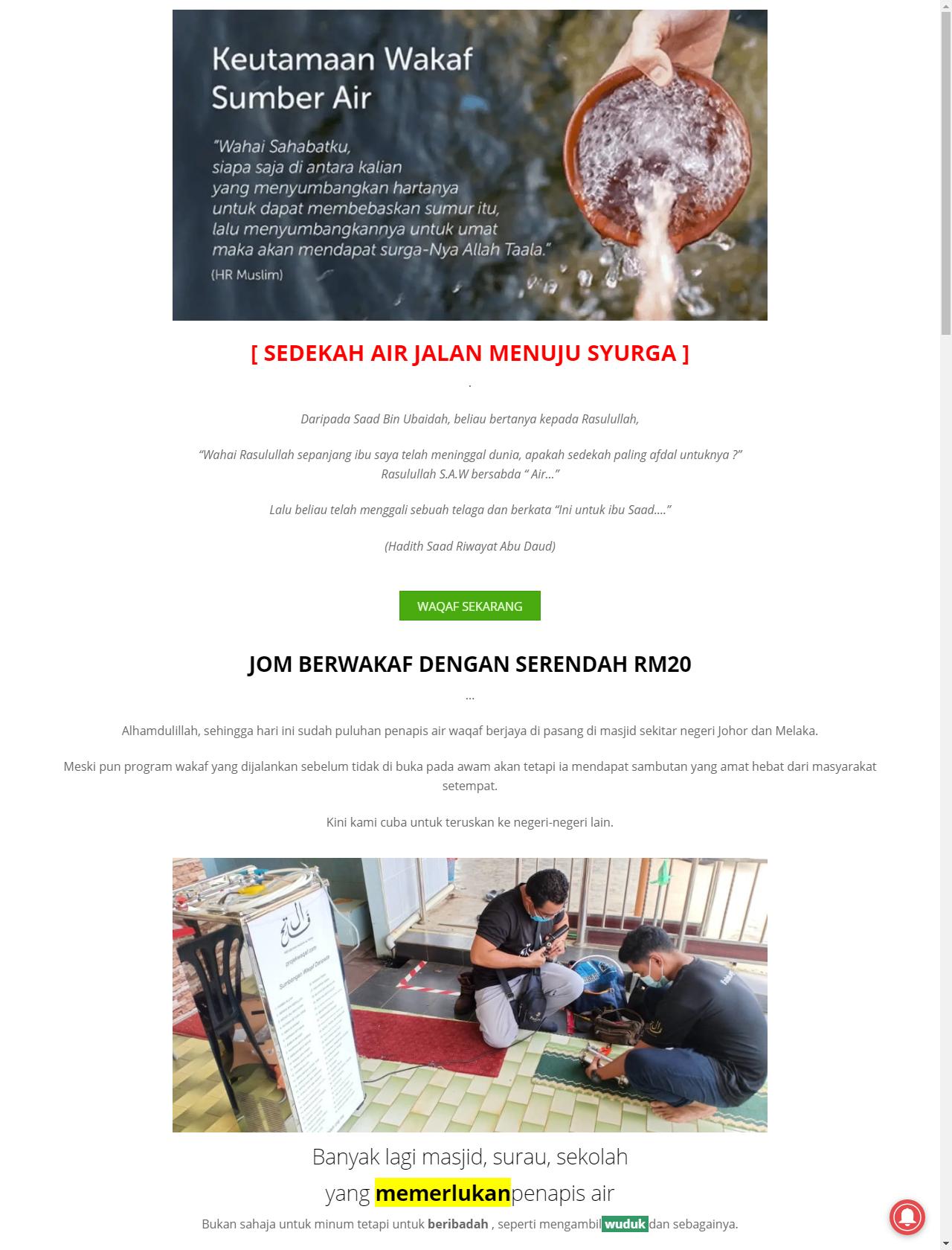 Screenshot Desktop - https://projekwaqaf.com/