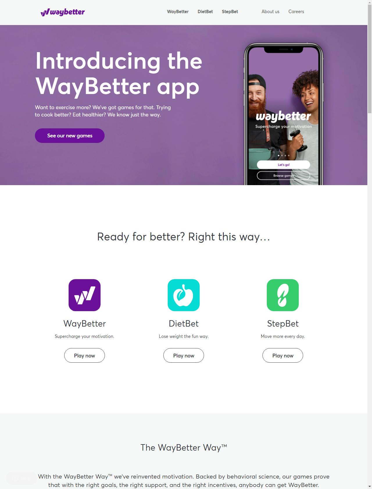 Screenshot Desktop - https://waybetter.com/