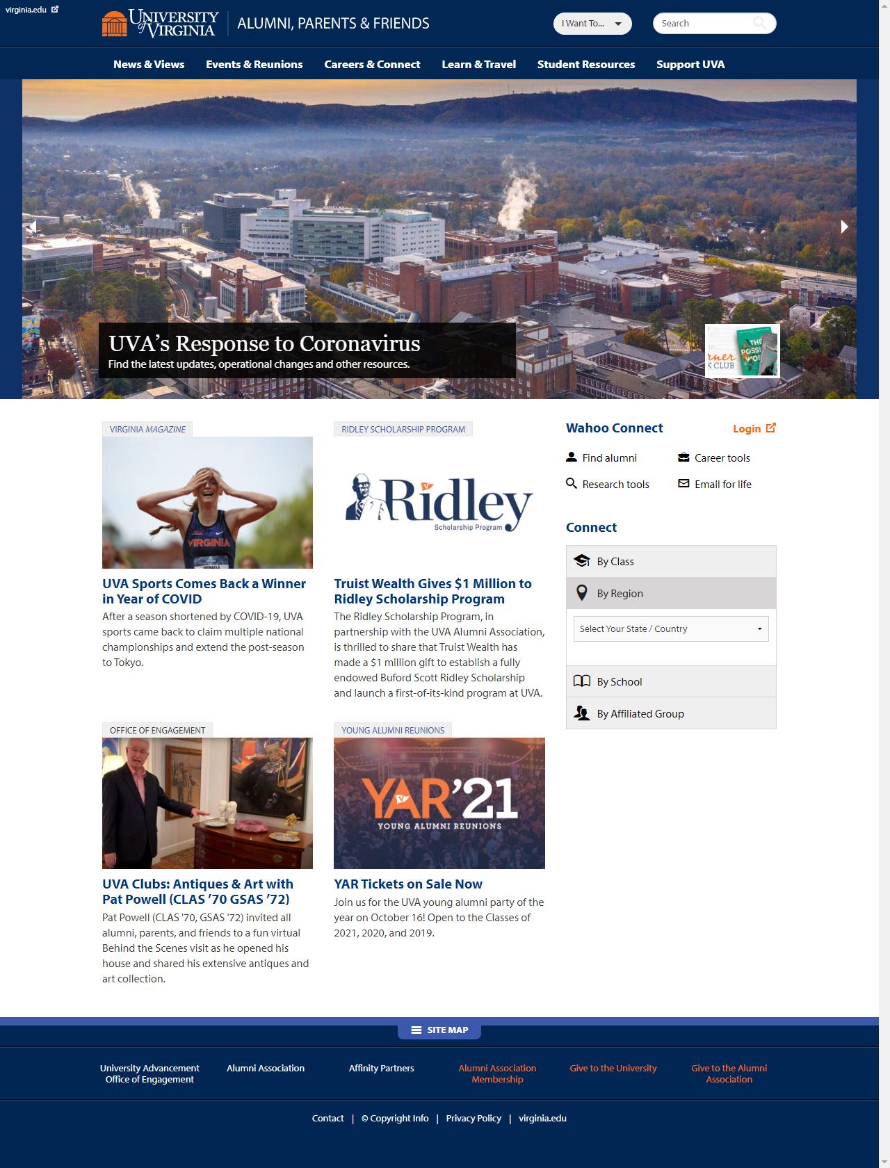 Screenshot Desktop - https://alumni.virginia.edu/