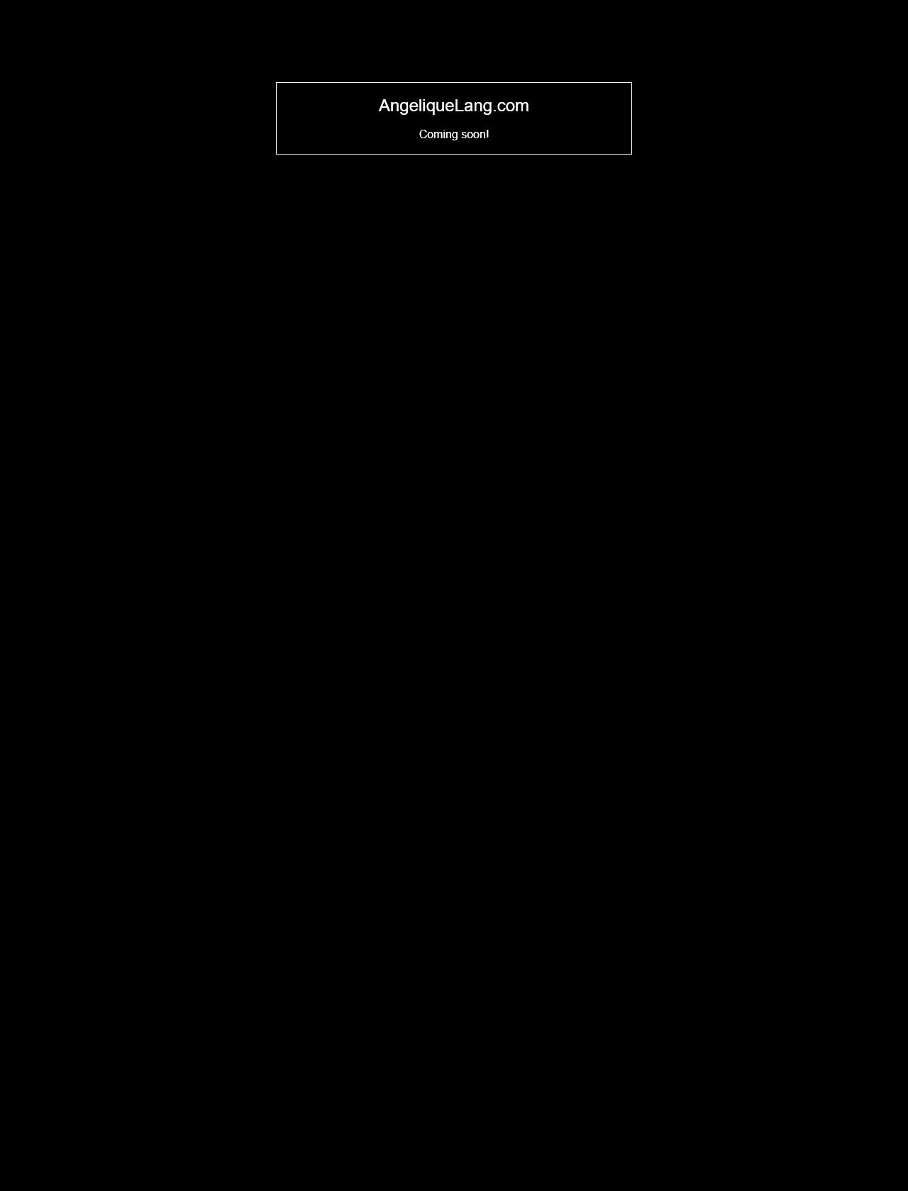 Screenshot Desktop - https://angeliquelang.com/
