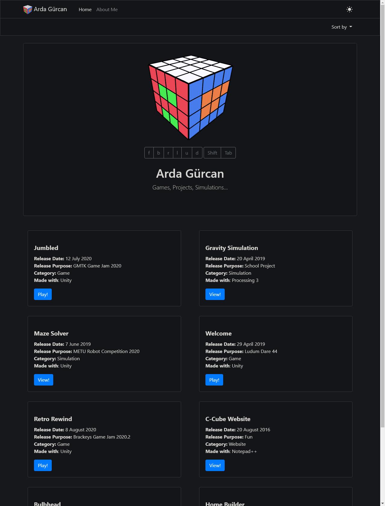 Screenshot Desktop - https://www.ardagurcan.com/