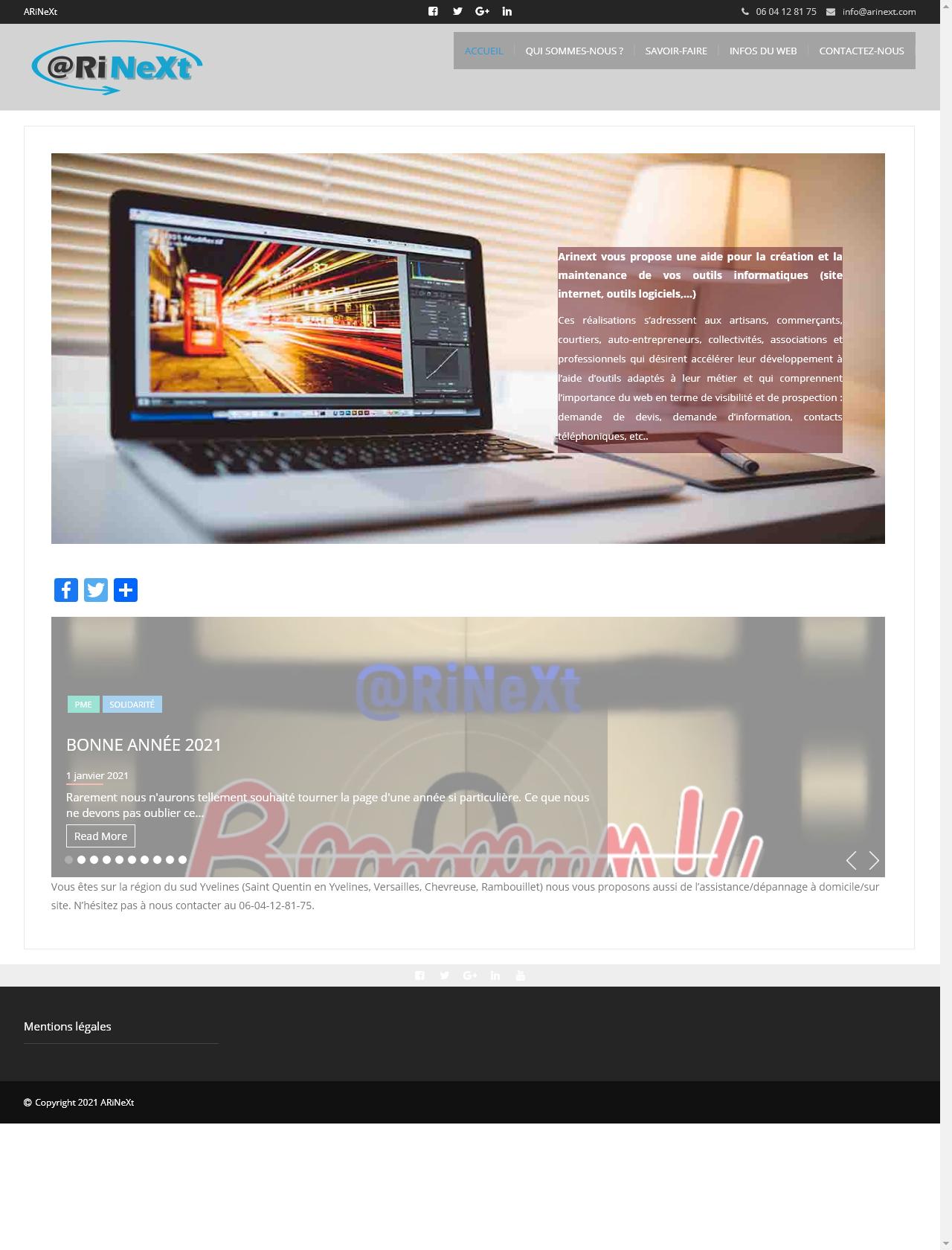 Screenshot Desktop - https://arinext.com/