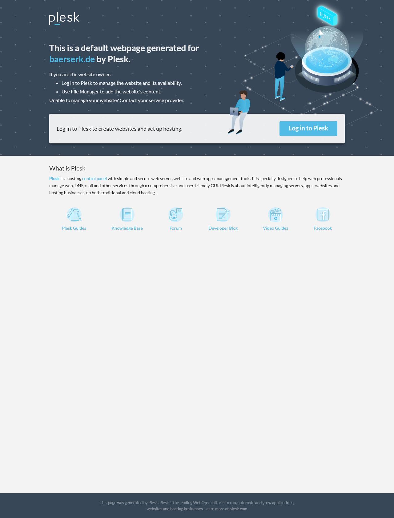 Screenshot Desktop - https://baerserk.de/