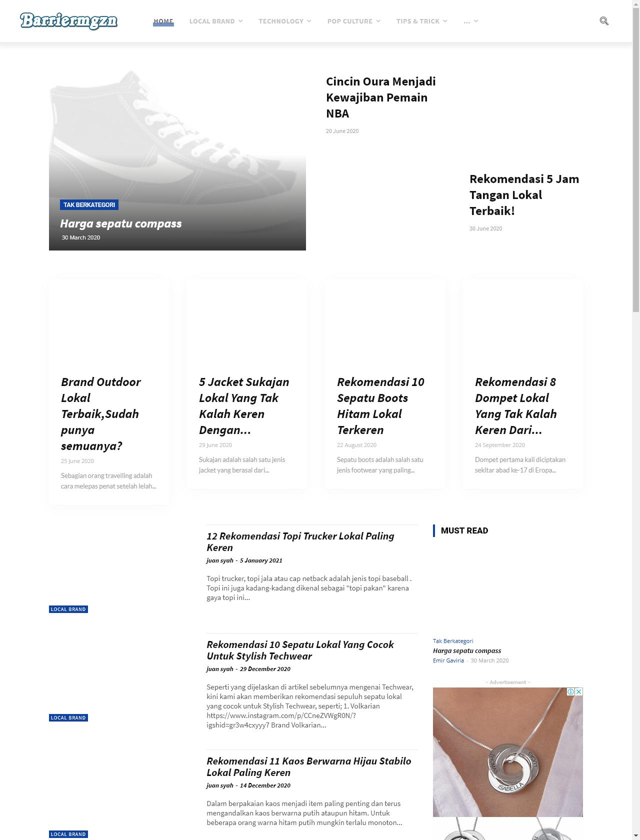 Screenshot Desktop - https://barriermagazine.com/