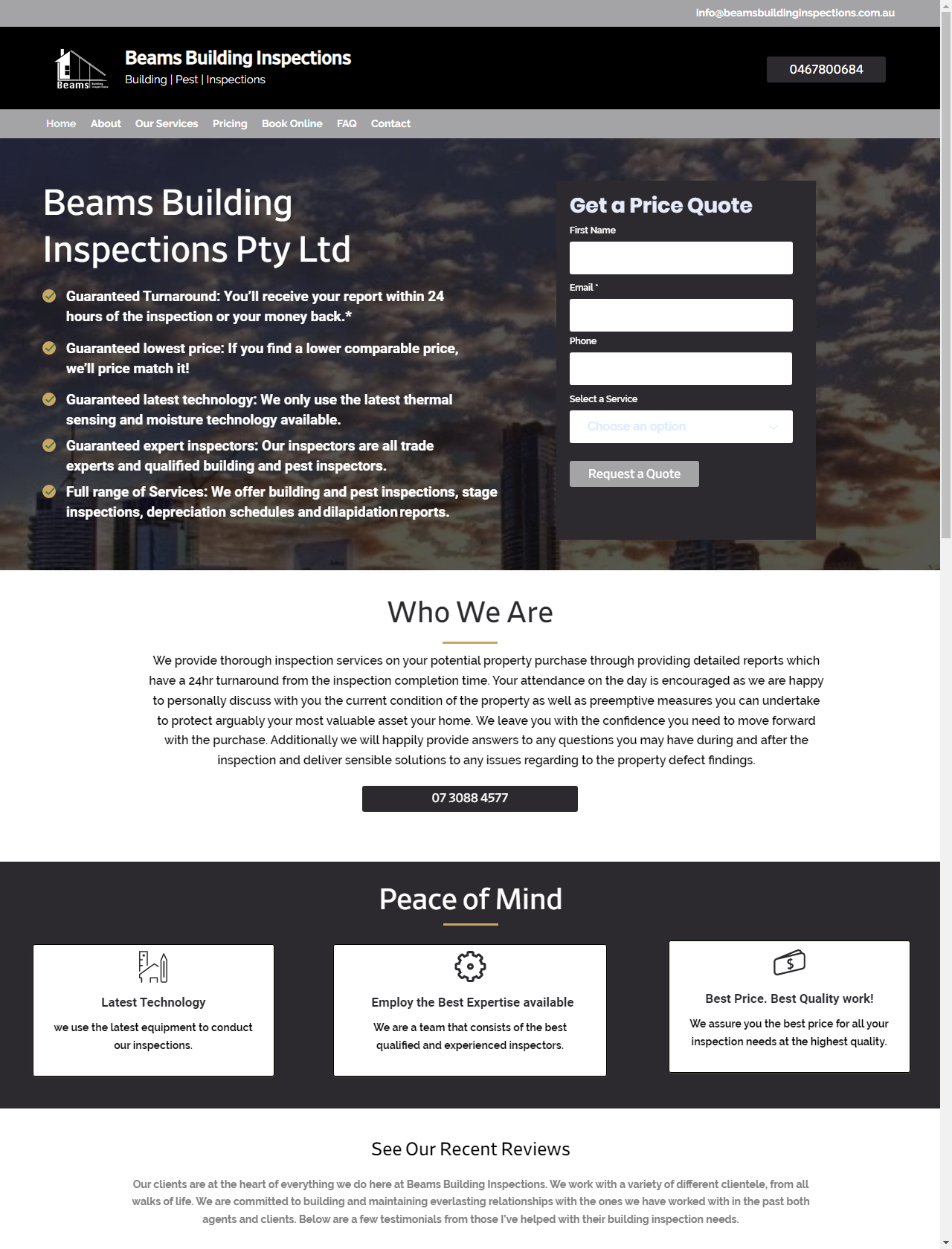 Screenshot Desktop - https://beamsbuildinginspections.com.au/