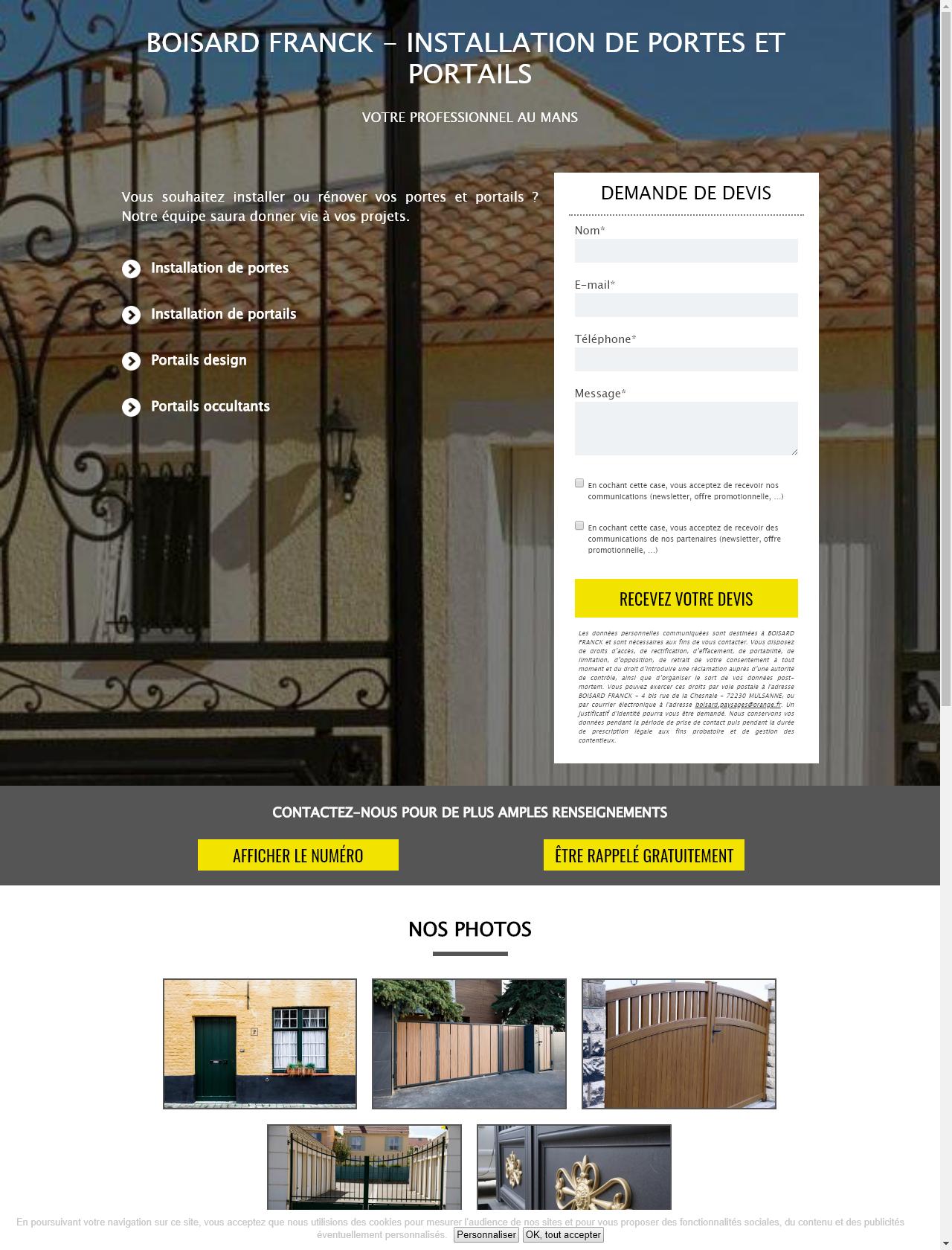 Screenshot Desktop - https://www.boisard-franck-lpa.fr/