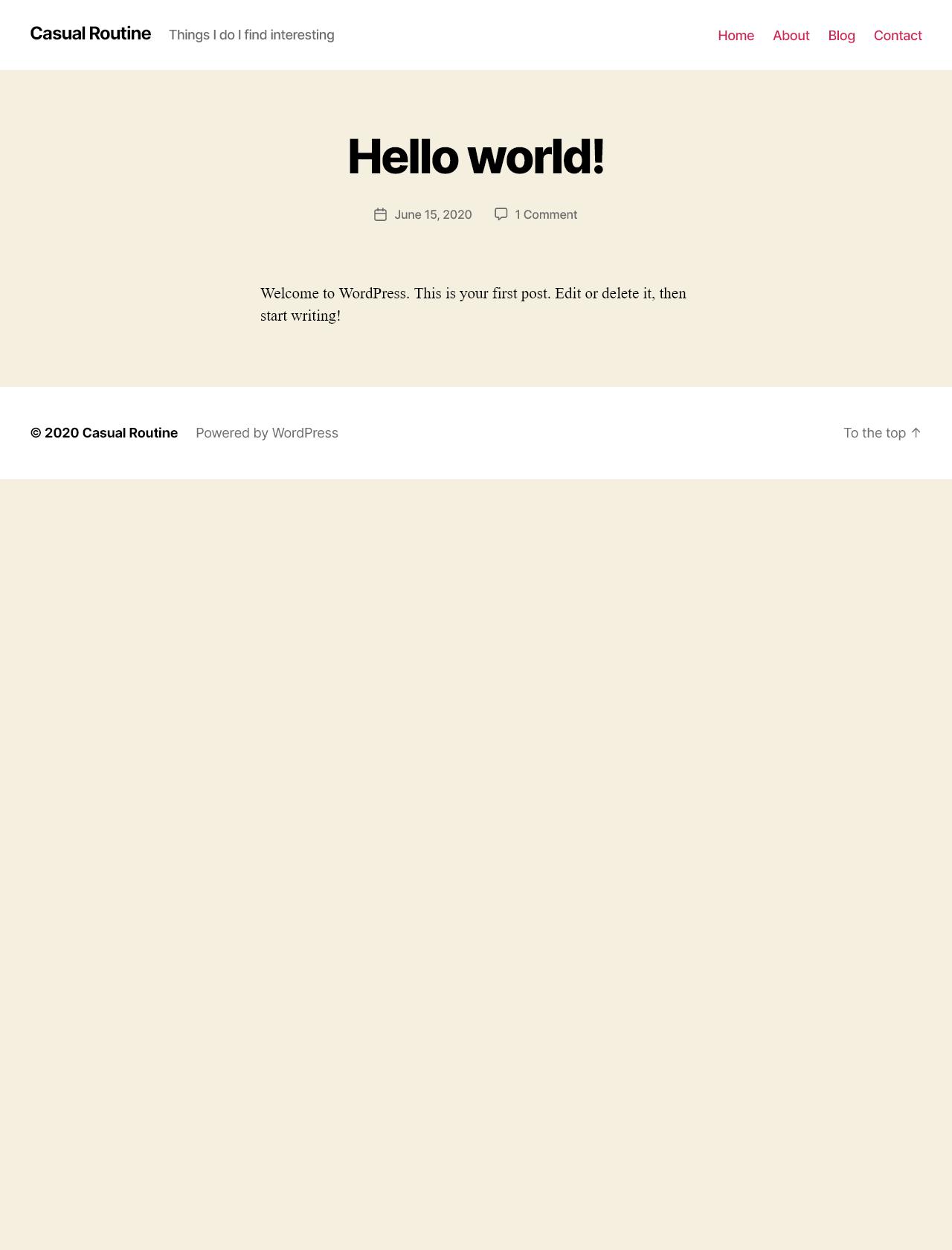 Screenshot Desktop - https://casualroutine.com/