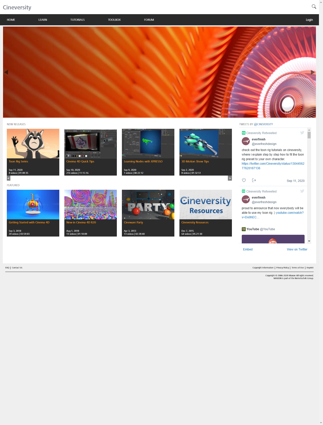 Screenshot Desktop - https://www.cineversity.com/