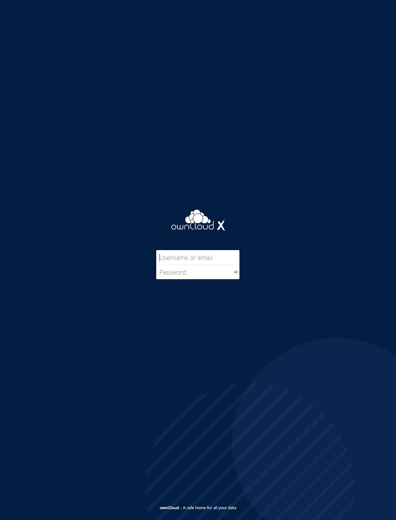 Screenshot Desktop - https://cloud.independencia.cl/index.php/login