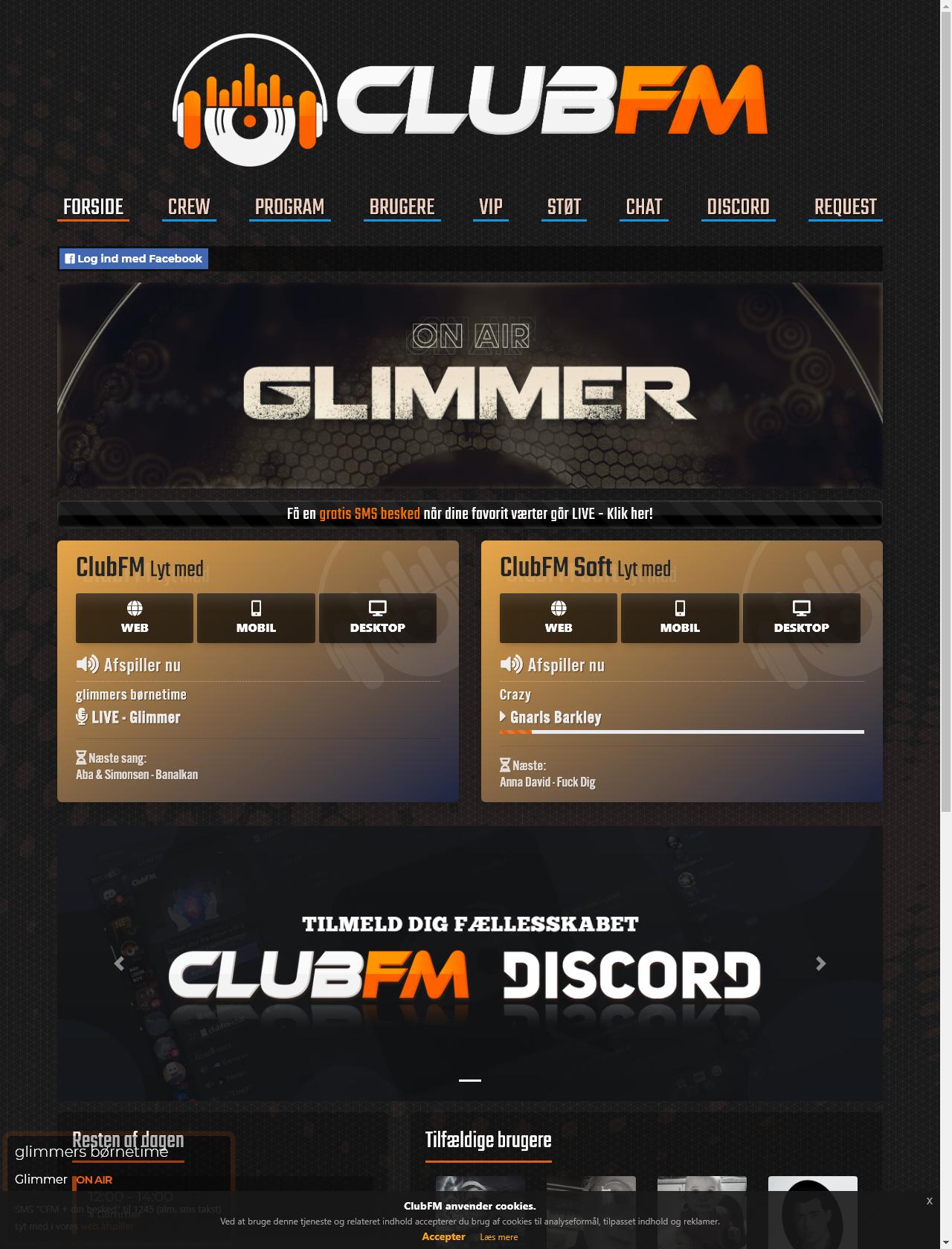Screenshot Desktop - https://clubfm.dk/