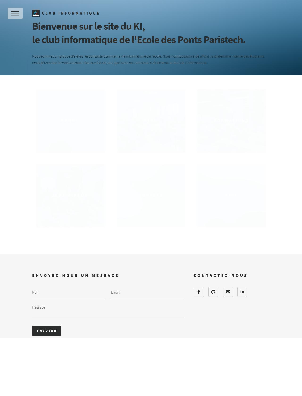 Screenshot Desktop - https://clubinfotest.enpc.org/