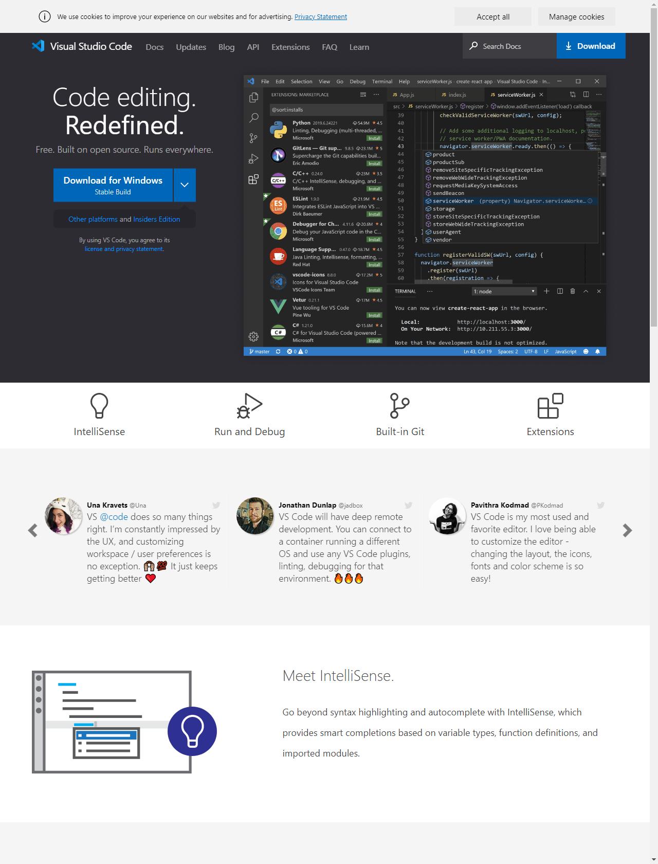 Screenshot Desktop - https://code.visualstudio.com/