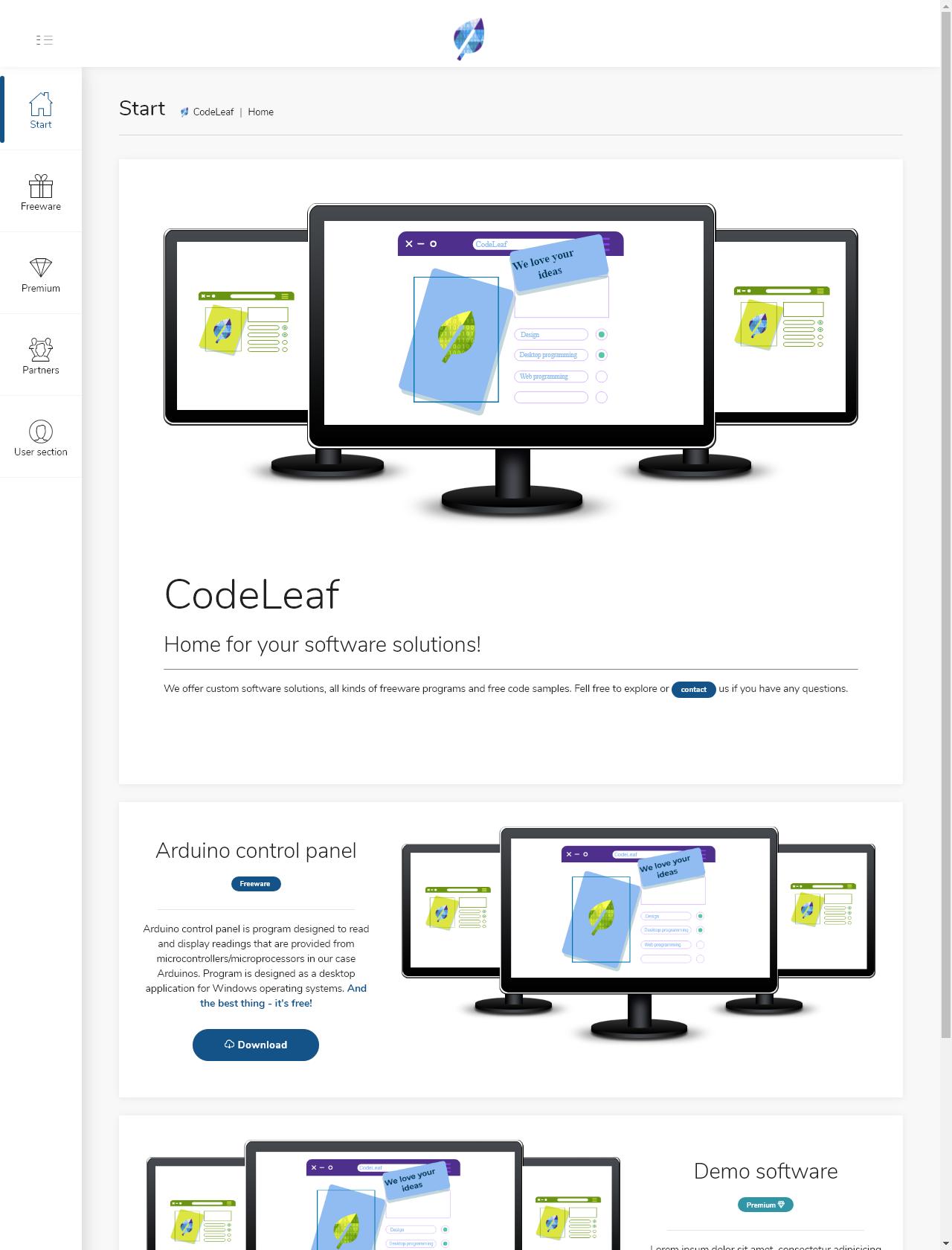 Screenshot Desktop - https://codeleaf.net/