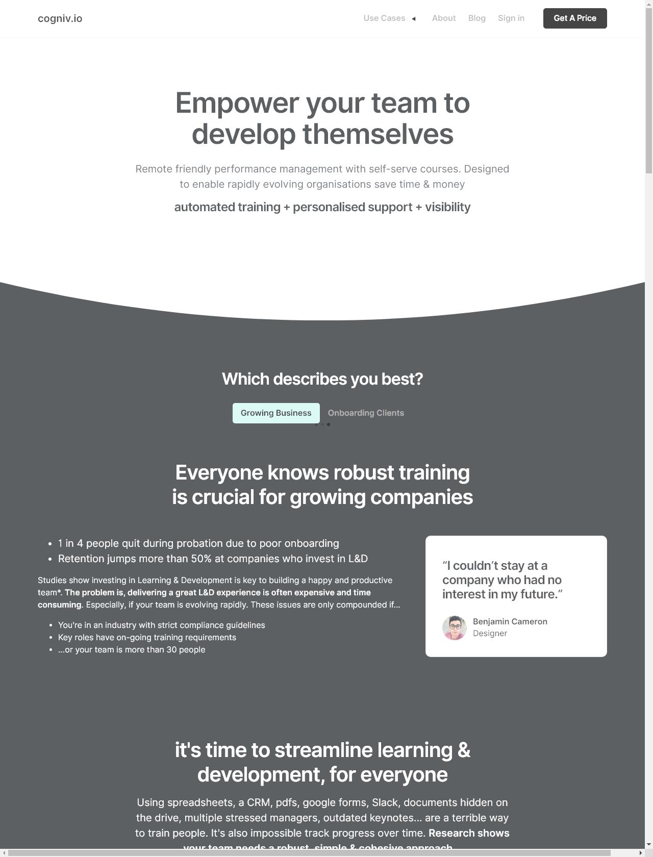 Screenshot Desktop - https://cogniv.io/