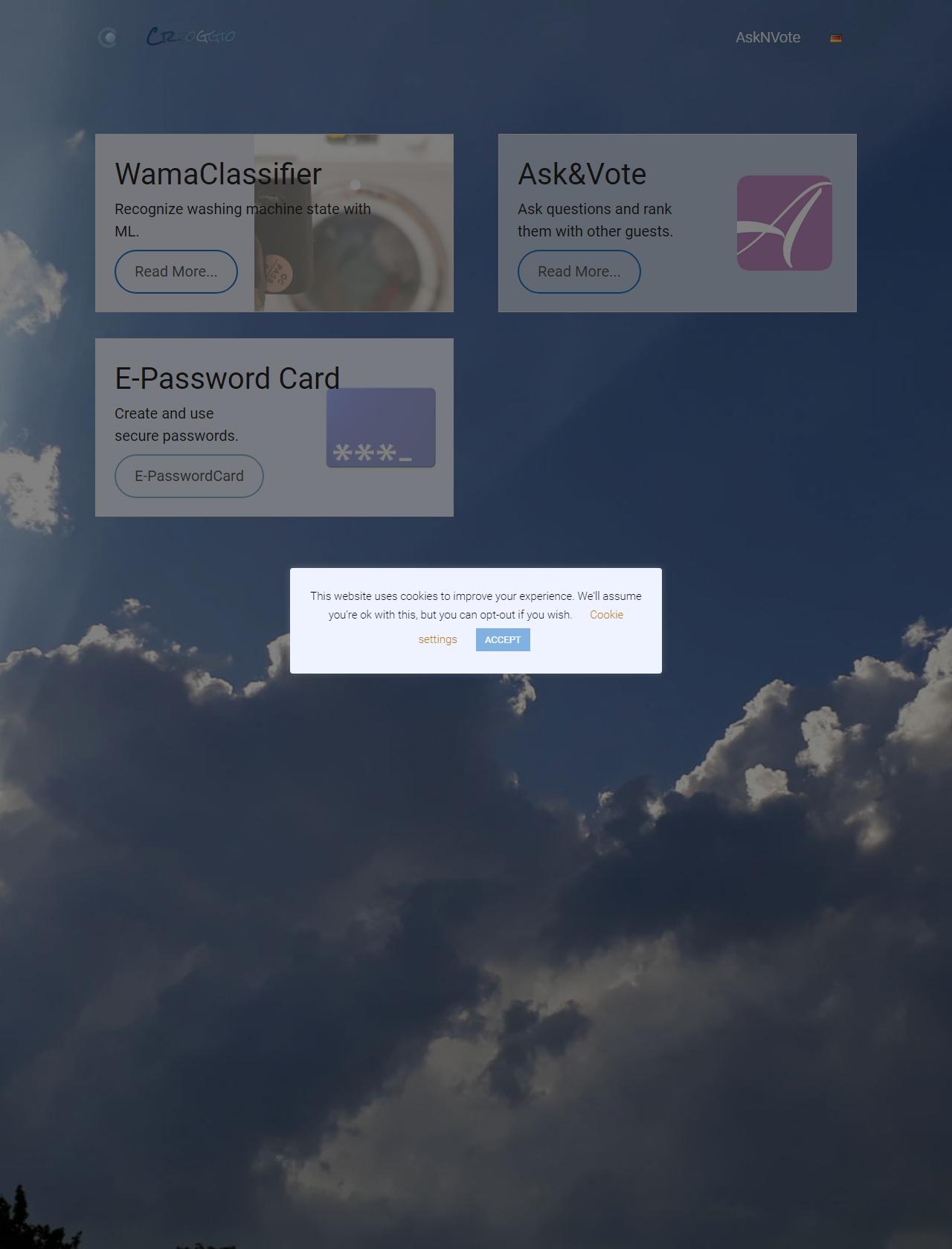 Screenshot Desktop - https://www.creoggio.de/