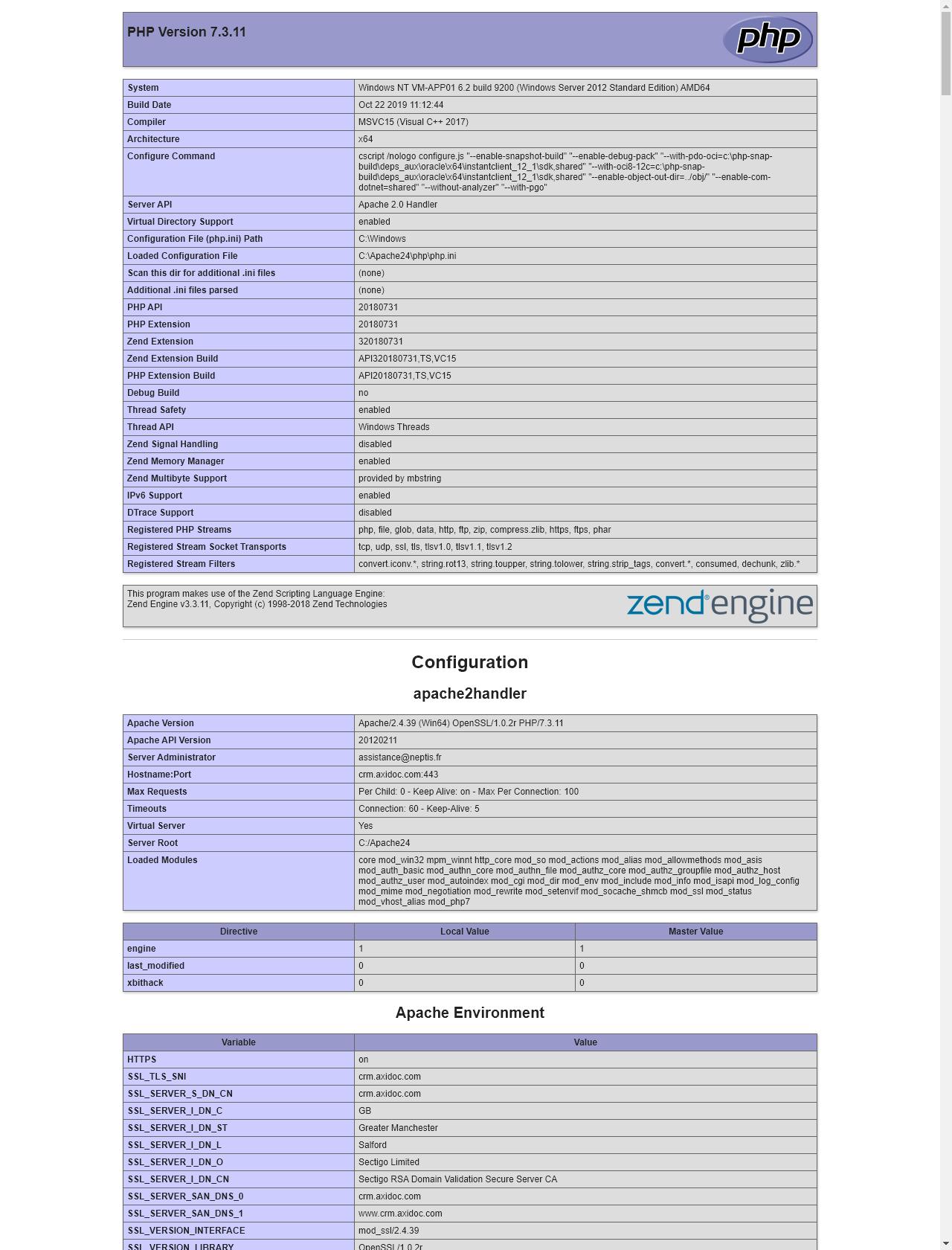 Screenshot Desktop - https://crm.axidoc.com/