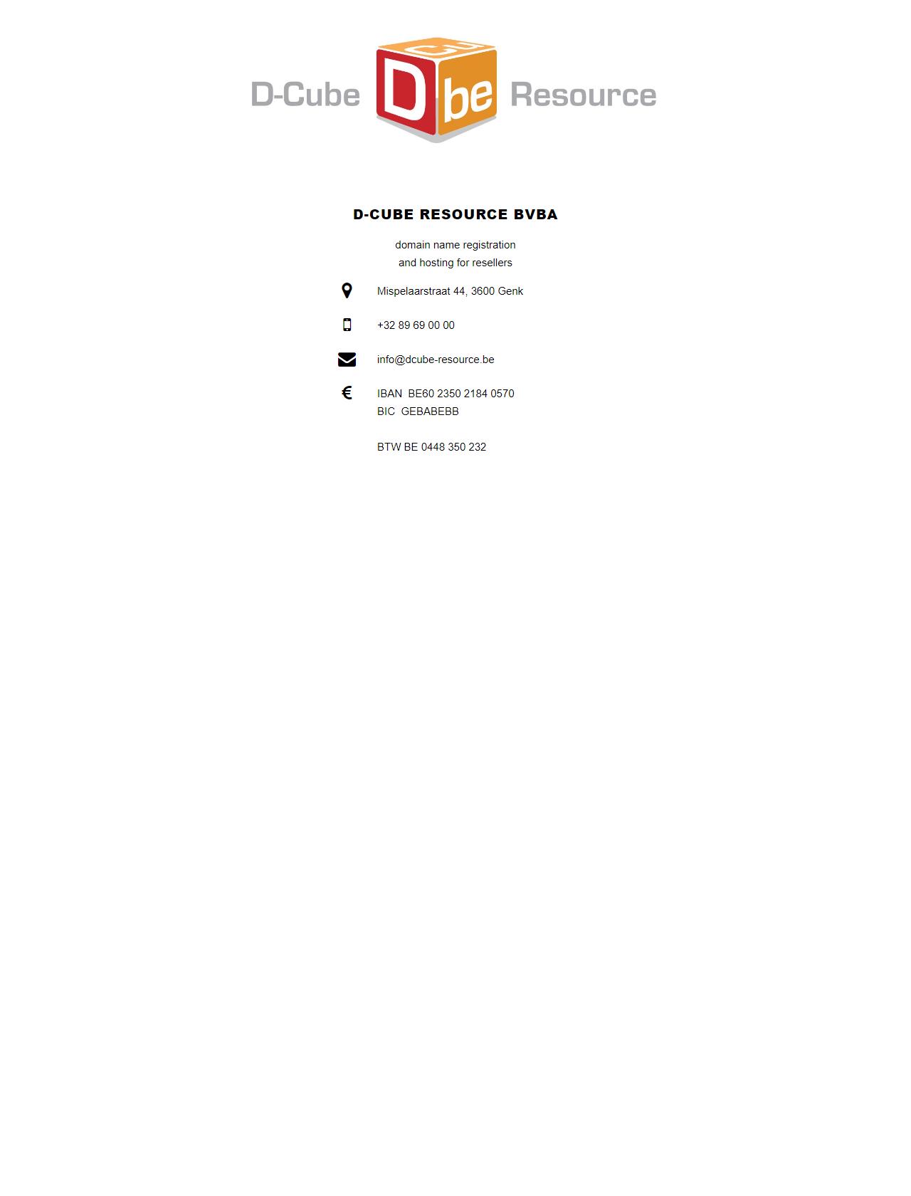 Screenshot Desktop - https://www.dcube-resource.be/dcube/index.html