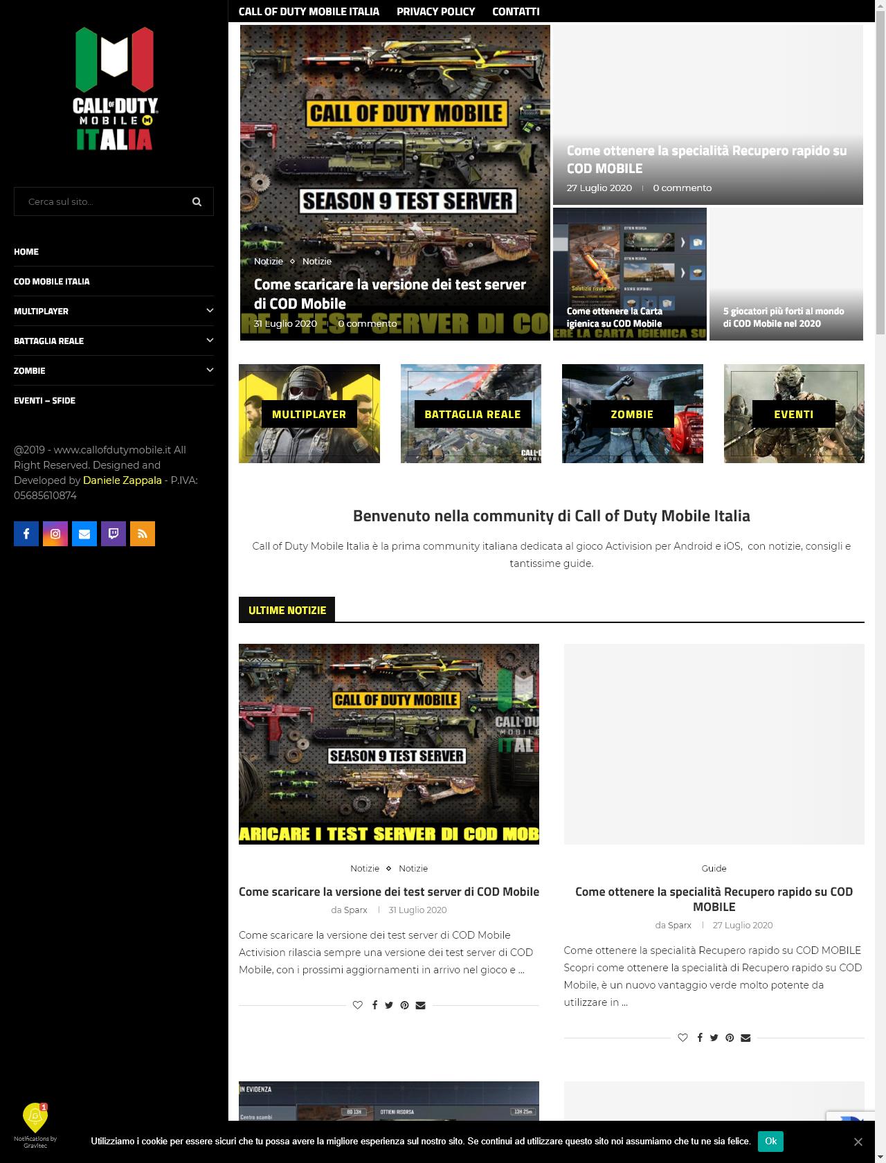 Screenshot Desktop - https://www.callofdutymobile.it/