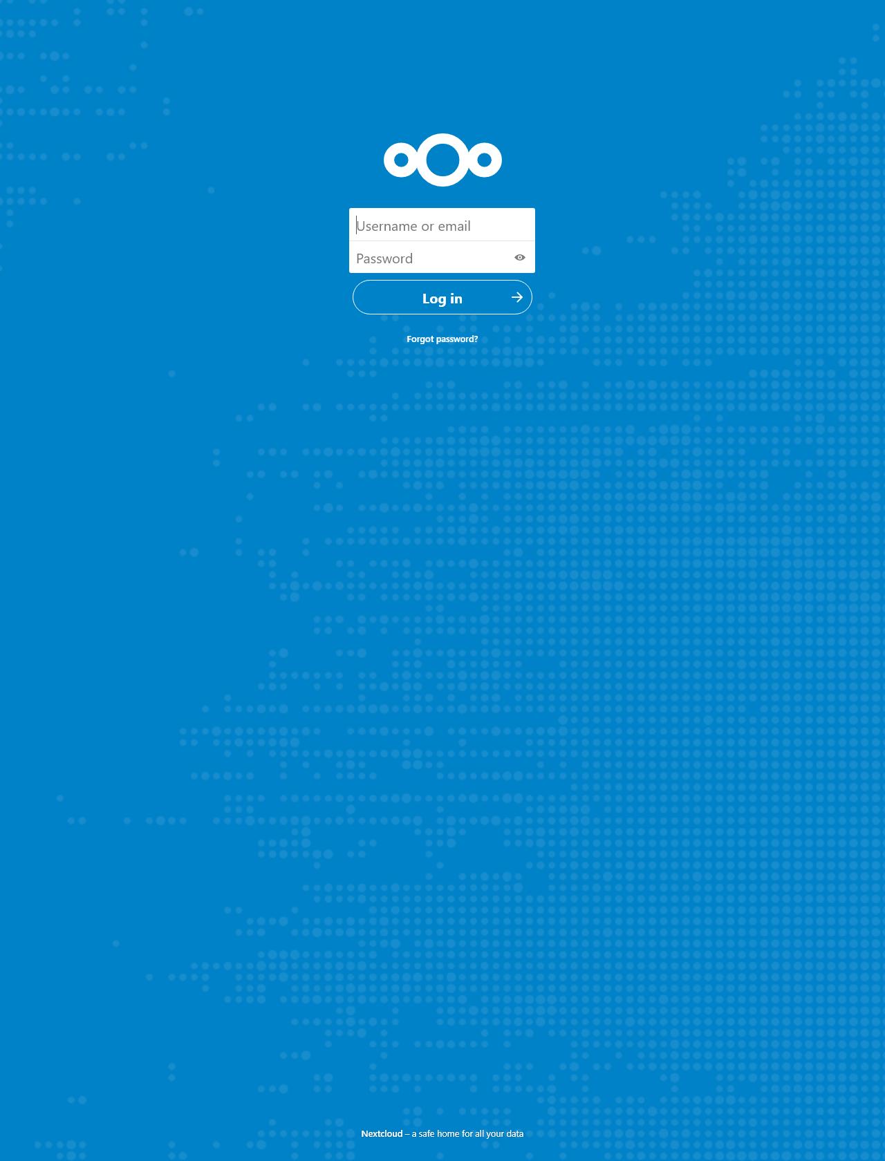 Screenshot Desktop - https://databackup.duckdns.org/login