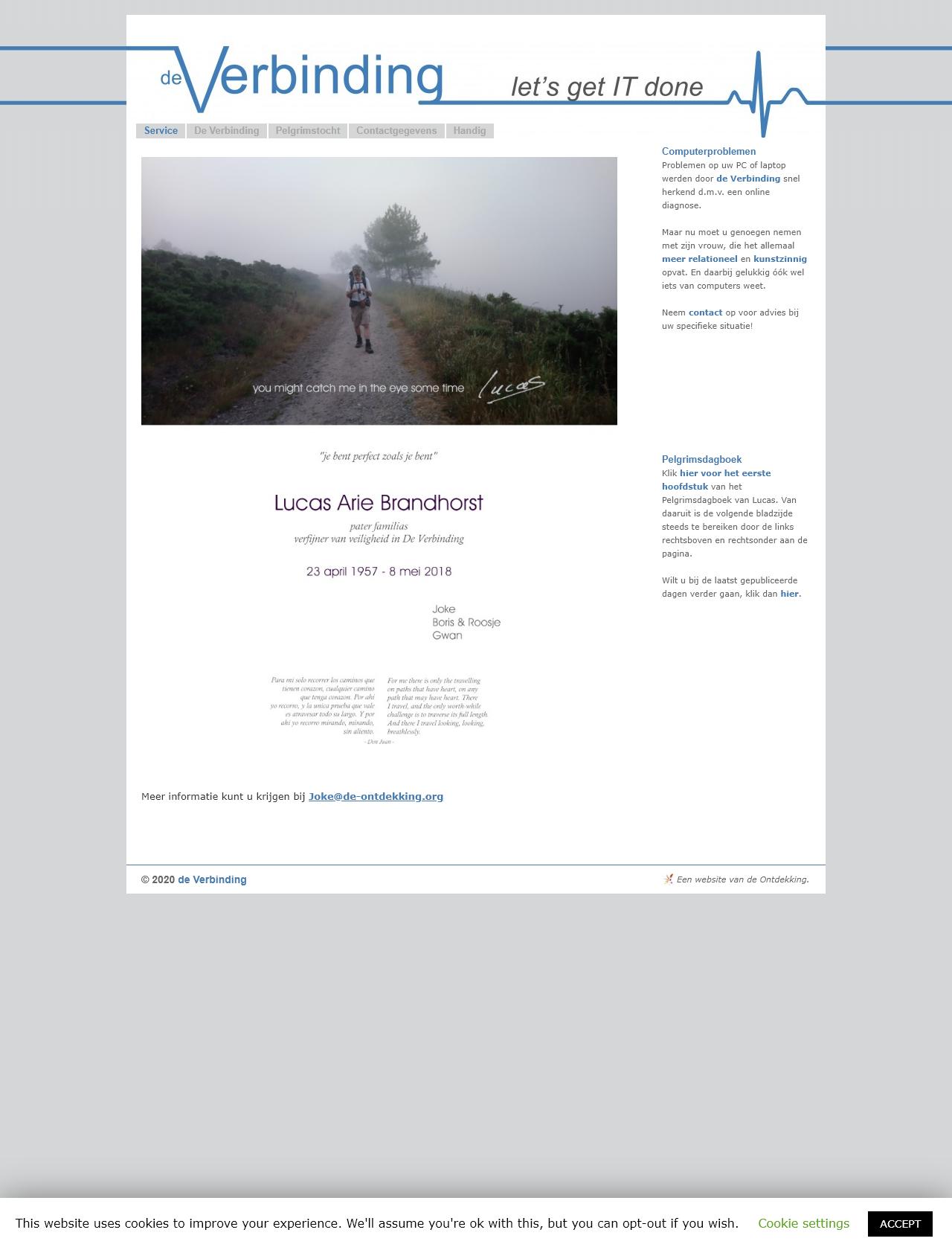 Screenshot Desktop - https://deverbinding.nu/