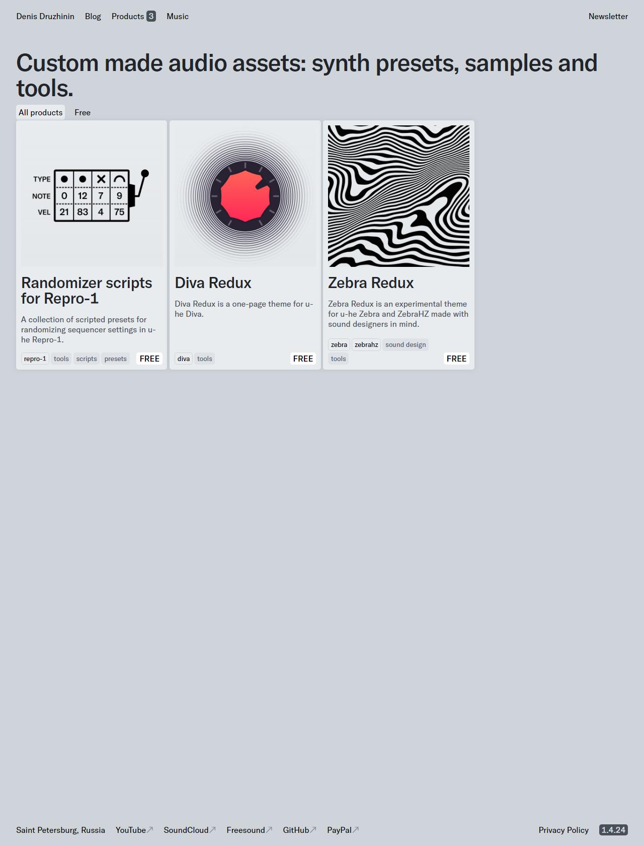 Screenshot Desktop - https://drzhnn.com/products/