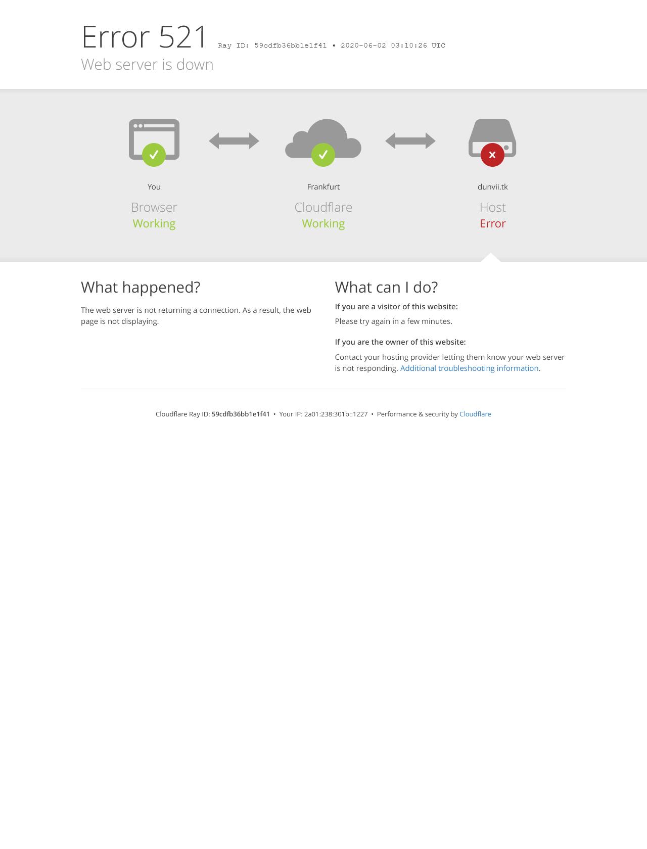 Screenshot Desktop - https://dunvii.tk/