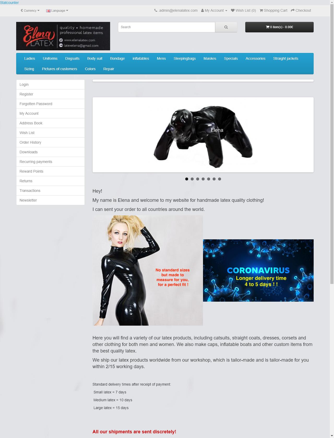 Screenshot Desktop - https://elenalatex.com/