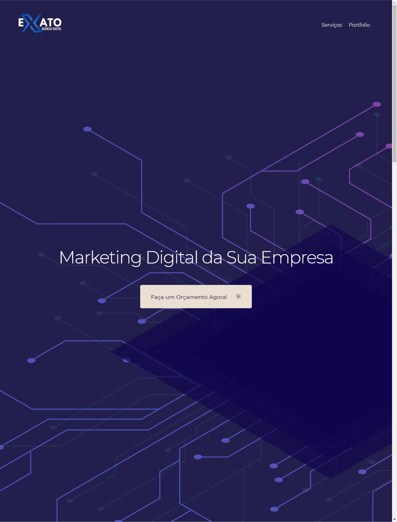 Screenshot Desktop - https://www.exatoagencia.com.br/