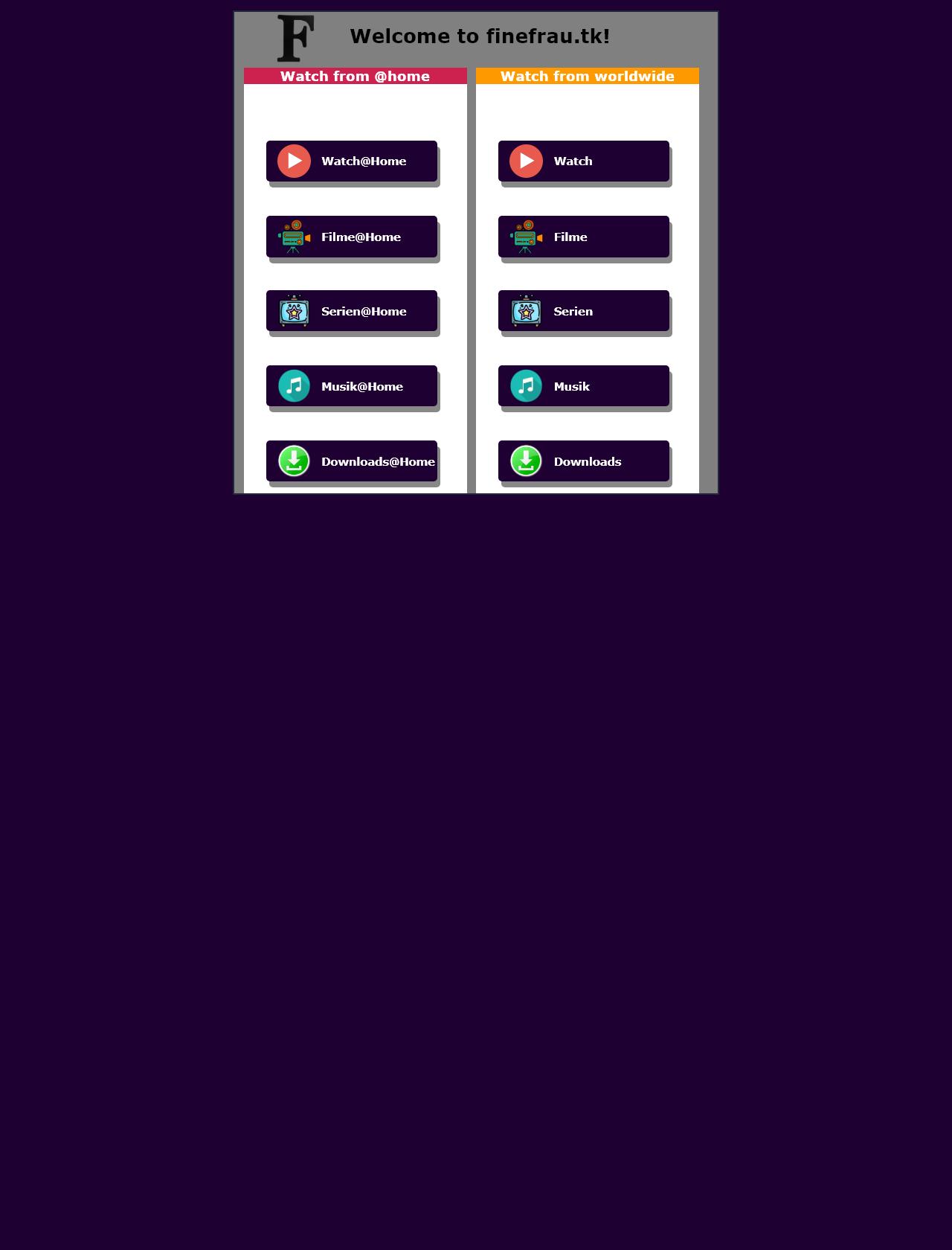 Screenshot Desktop - https://finefrau.tk/