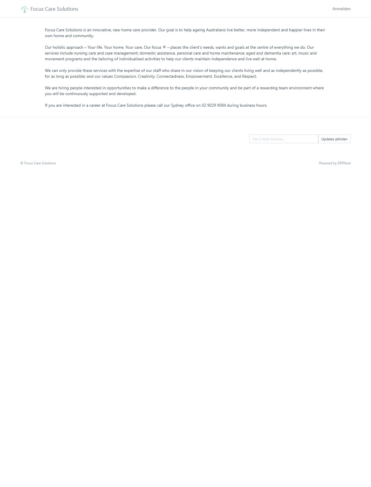 Screenshot Desktop - https://focuscareaustralia.com.au/