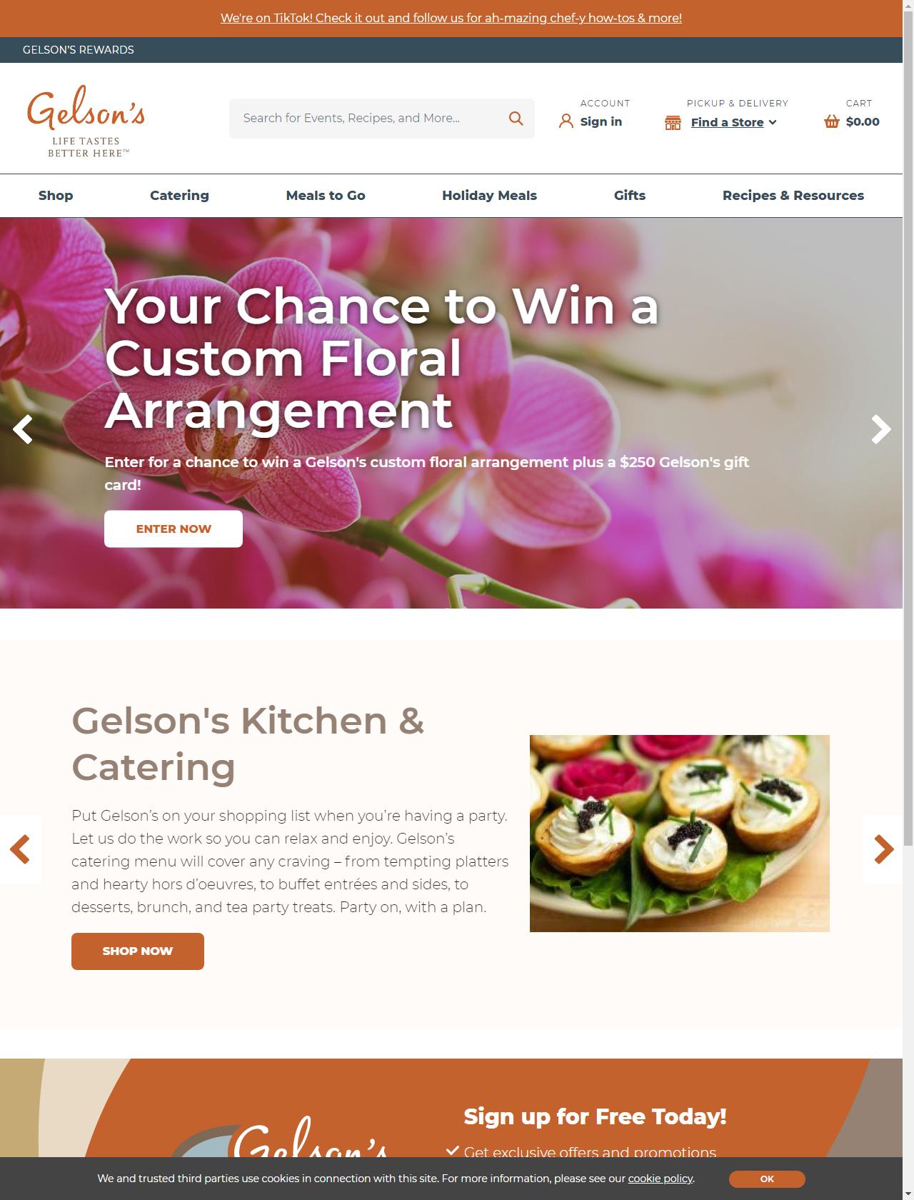 Screenshot Desktop - https://www.gelsons.com/
