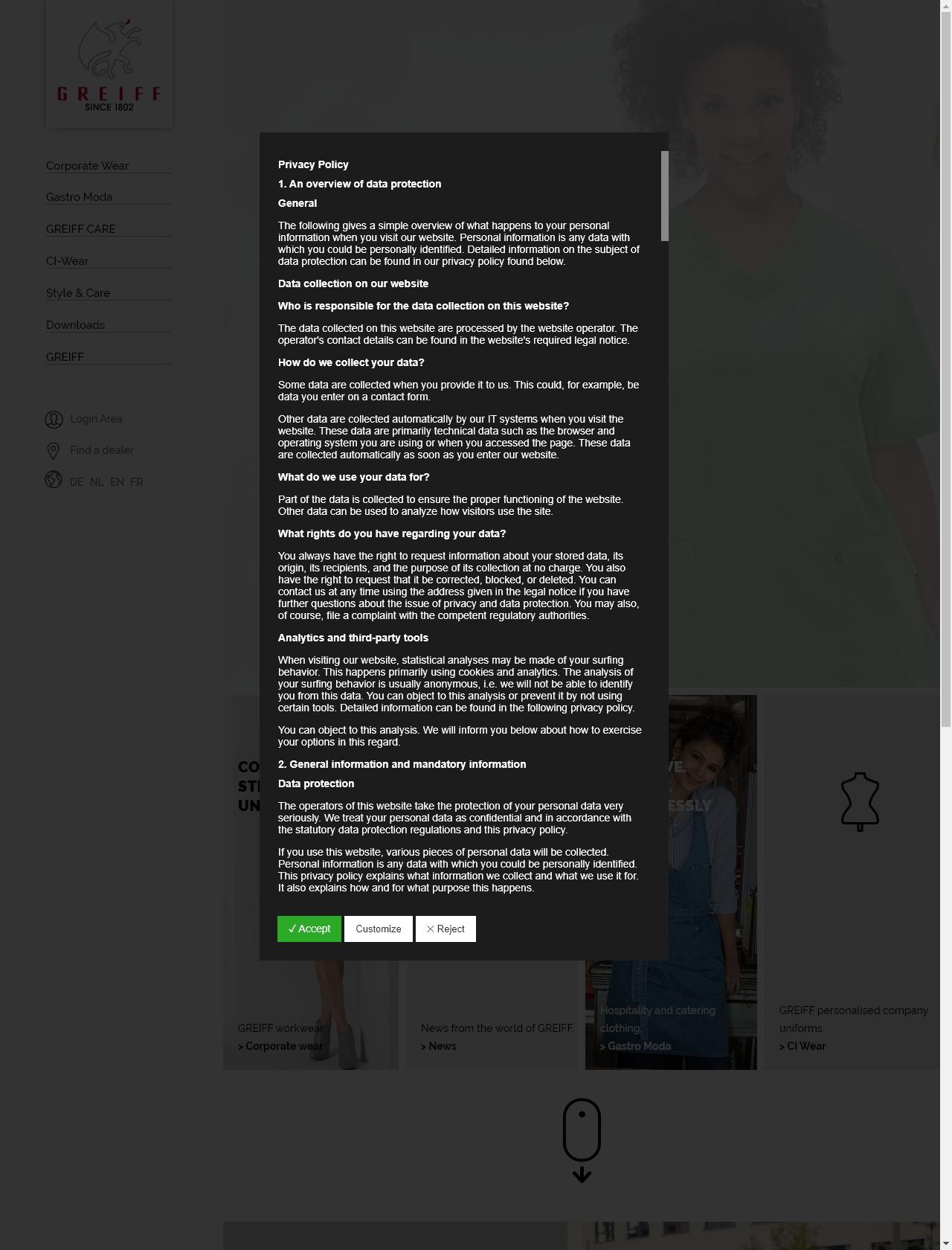 Screenshot Desktop - https://www.greiff.de/