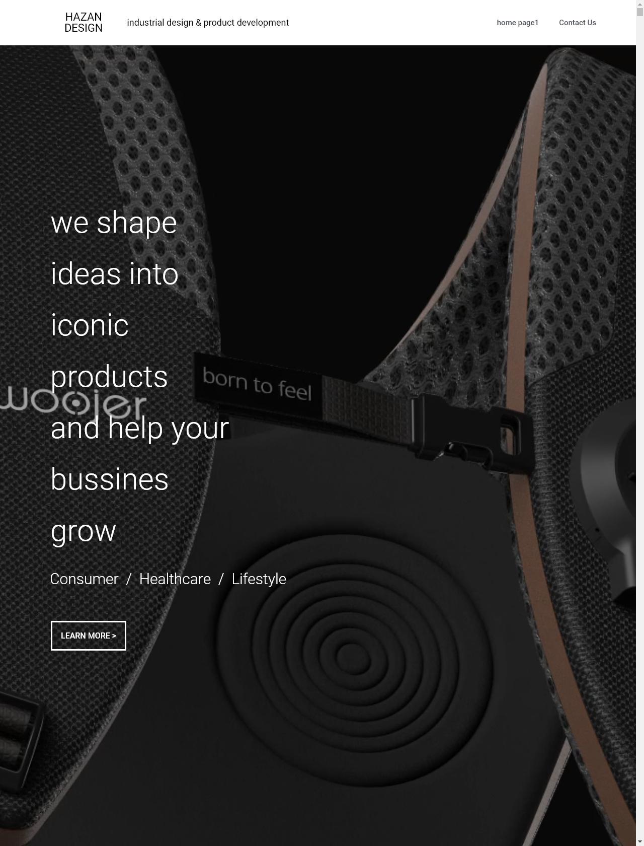 Screenshot Desktop - https://www.hazandesign.com/