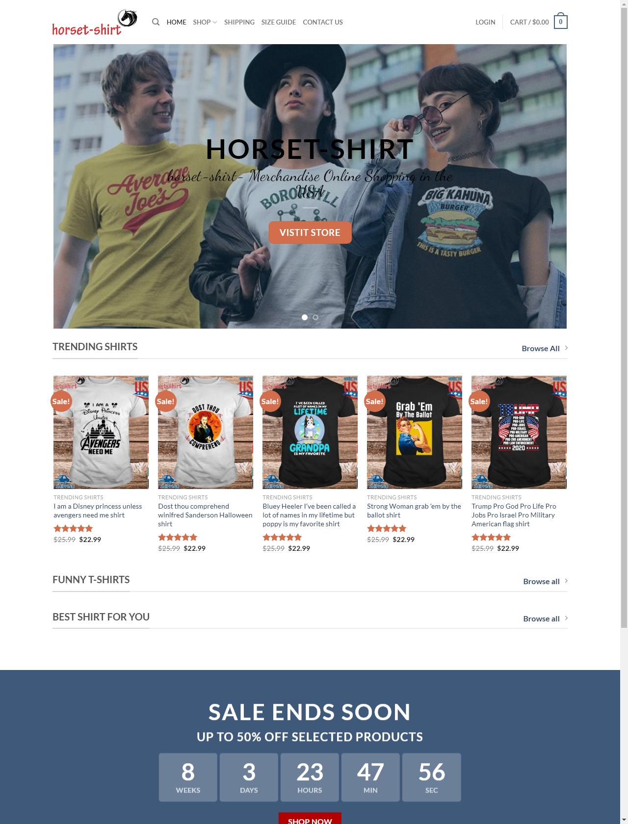 Screenshot Desktop - https://horset-shirt.com/