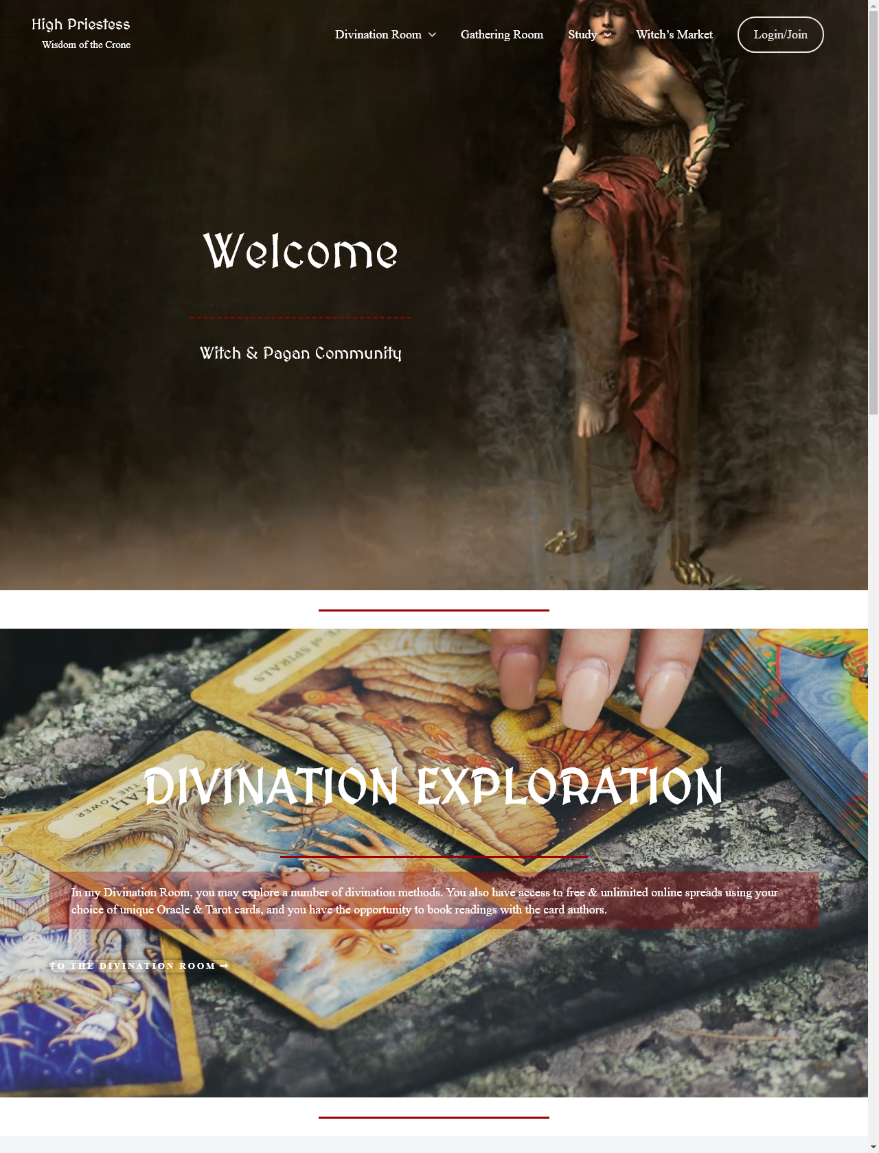 Screenshot Desktop - https://www.hpriestess.com/