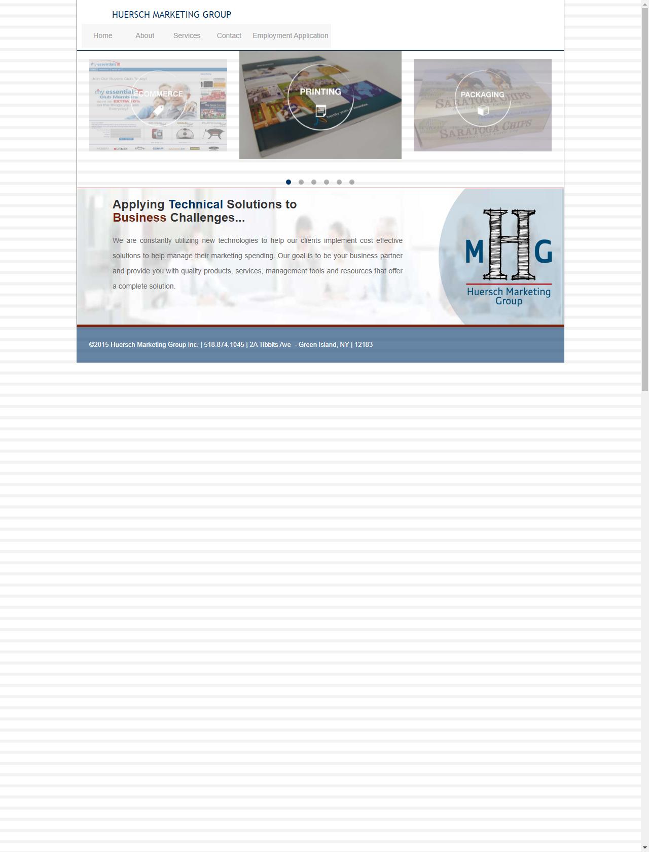 Screenshot Desktop - https://huersch.com/