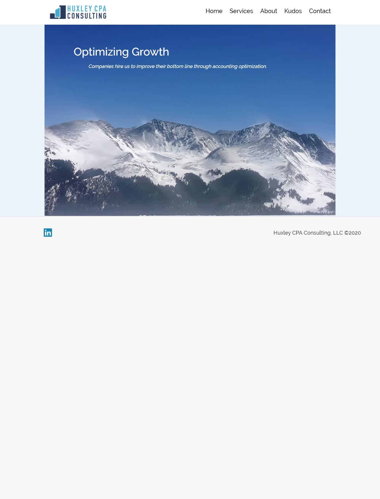 Screenshot Desktop - https://www.huxleycpa.com/