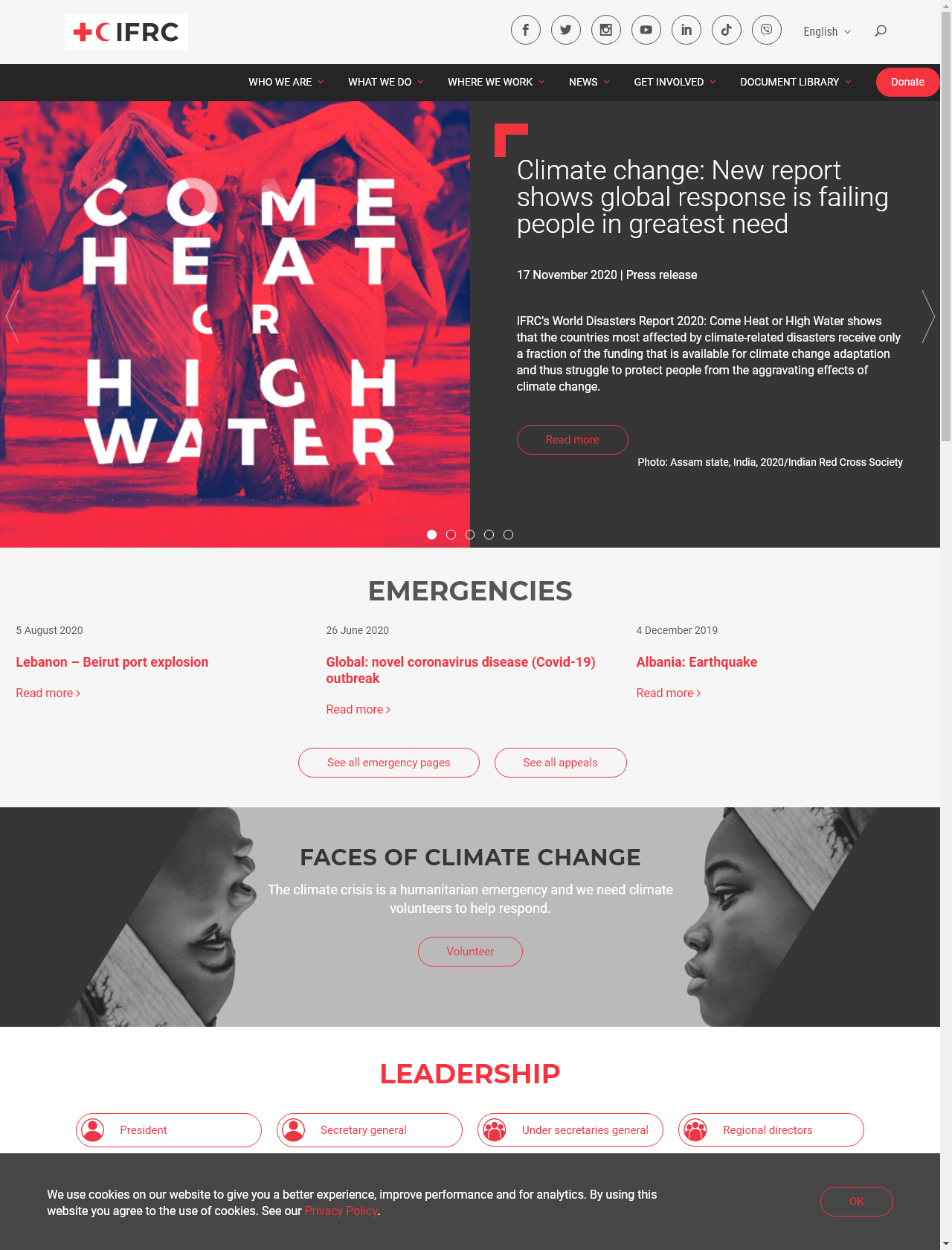 Screenshot Desktop - https://media.ifrc.org/ifrc
