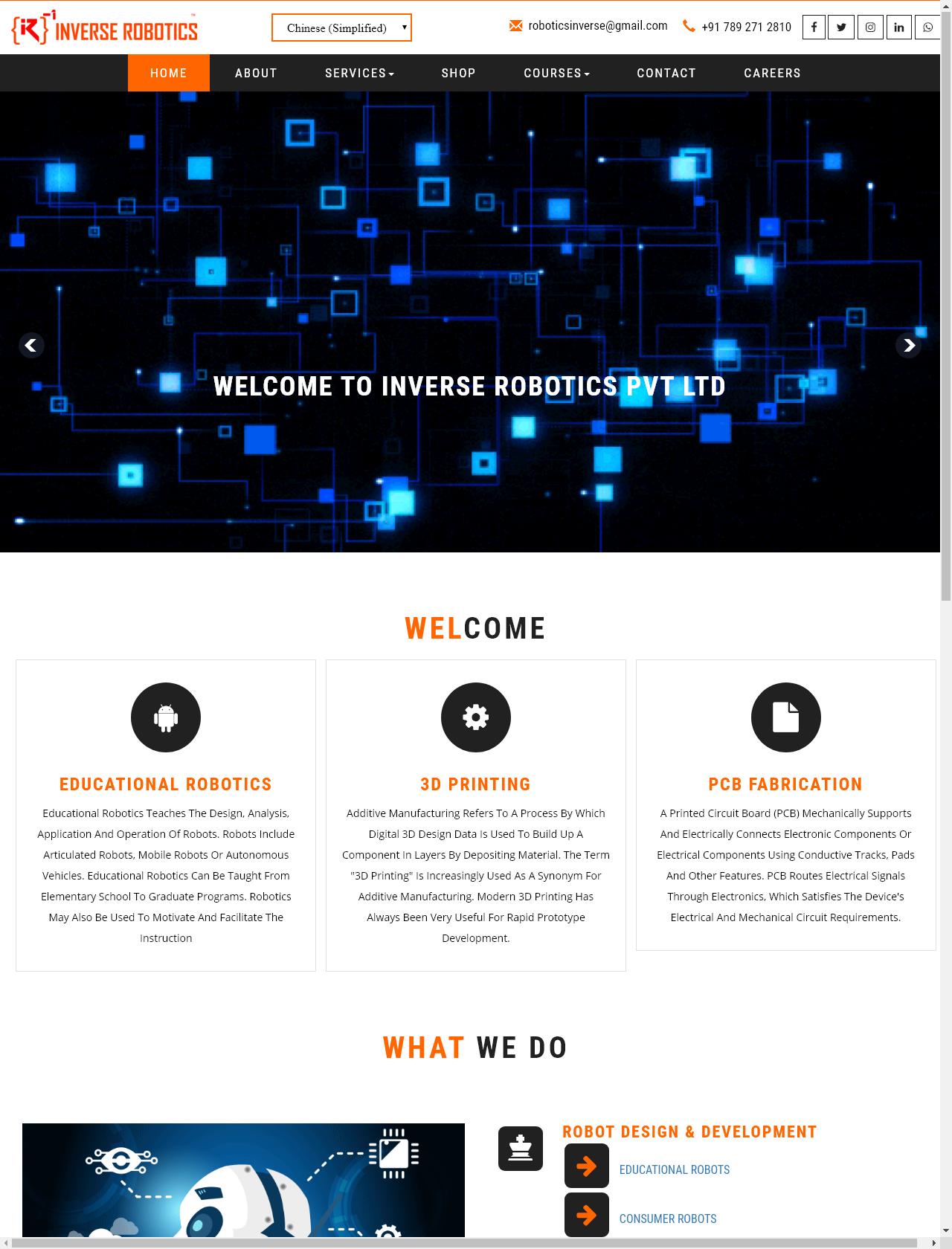 Screenshot Desktop - https://inverserobotics.in/