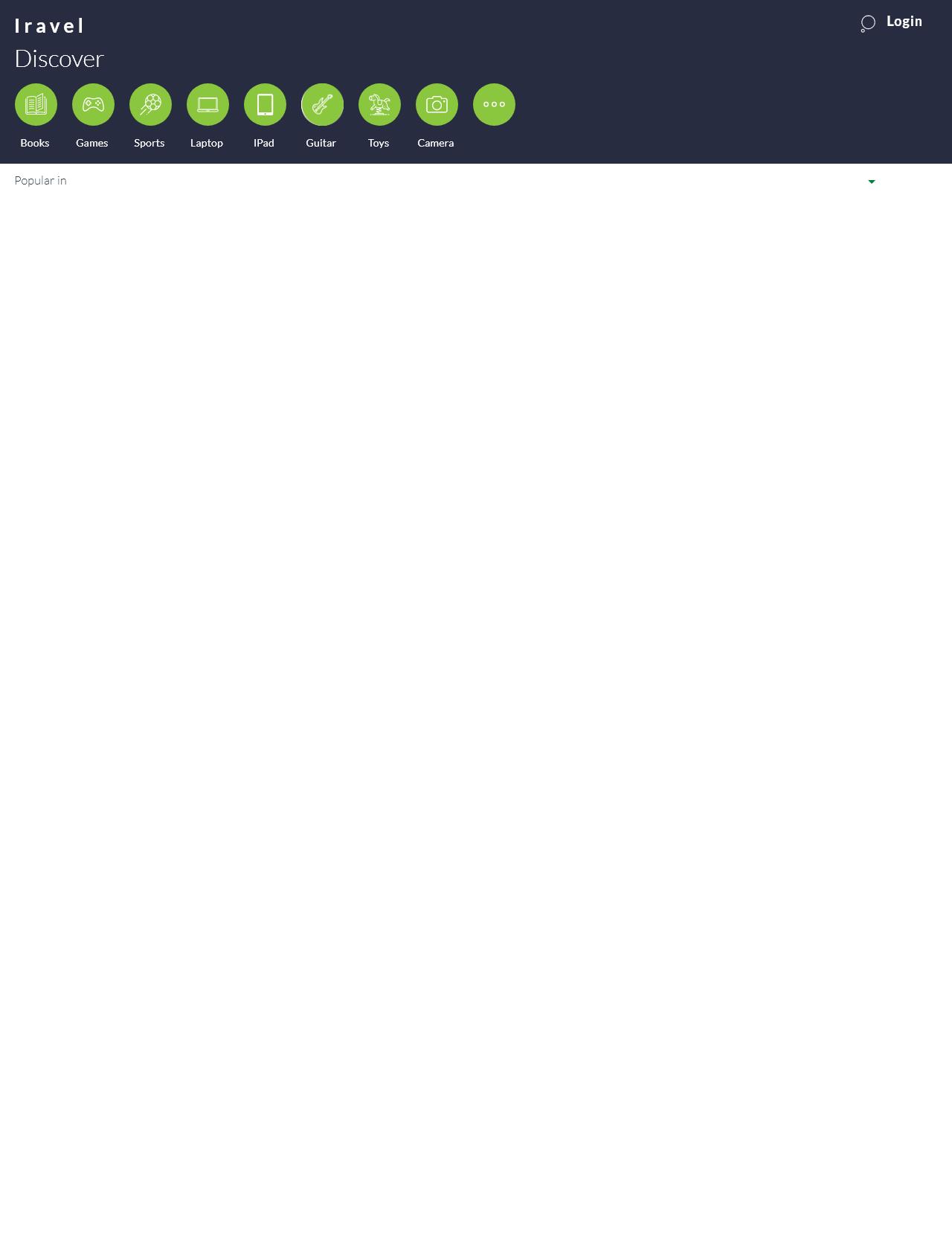 Screenshot Desktop - https://iravelshop.com/homepage