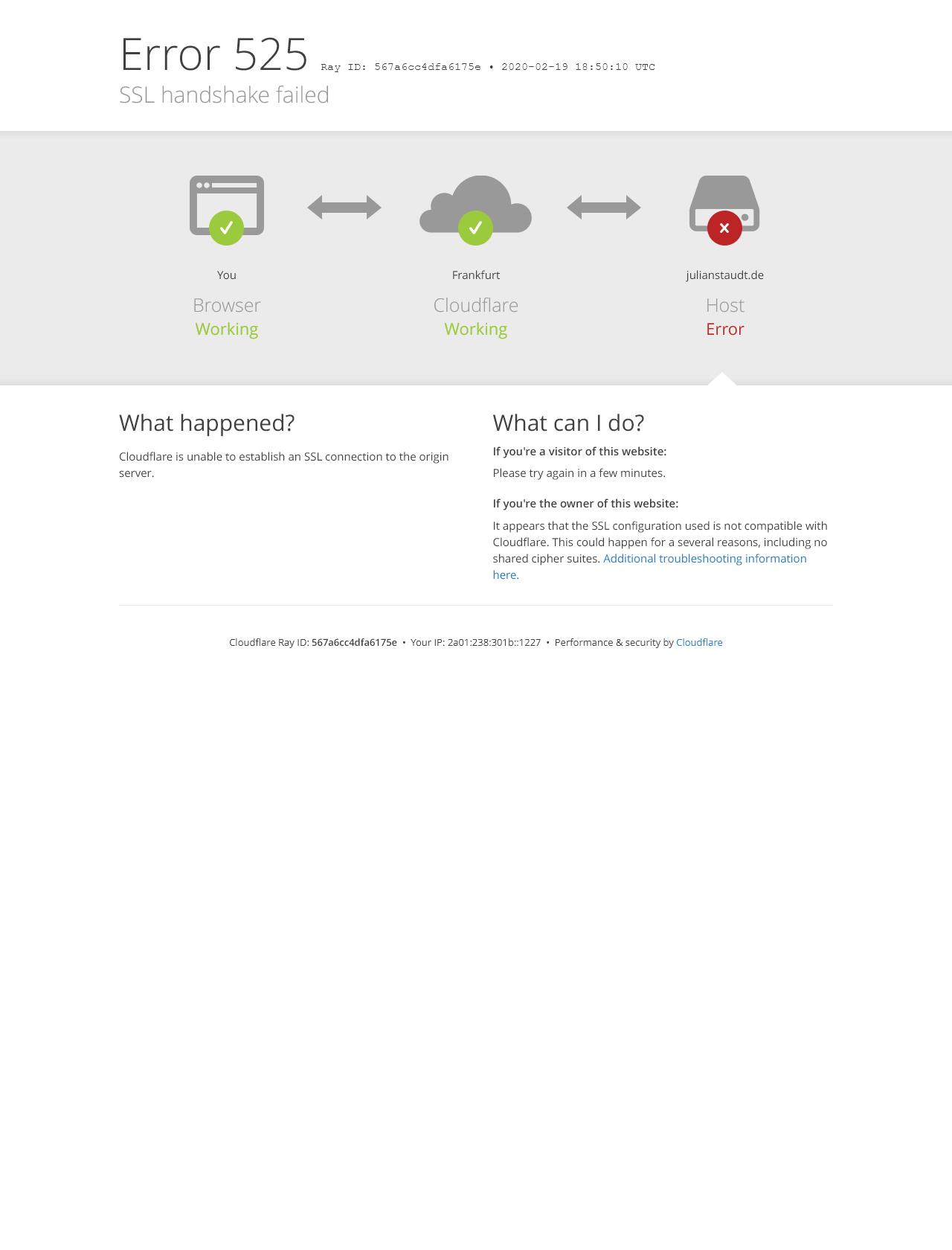 Screenshot Desktop - https://julianstaudt.de/