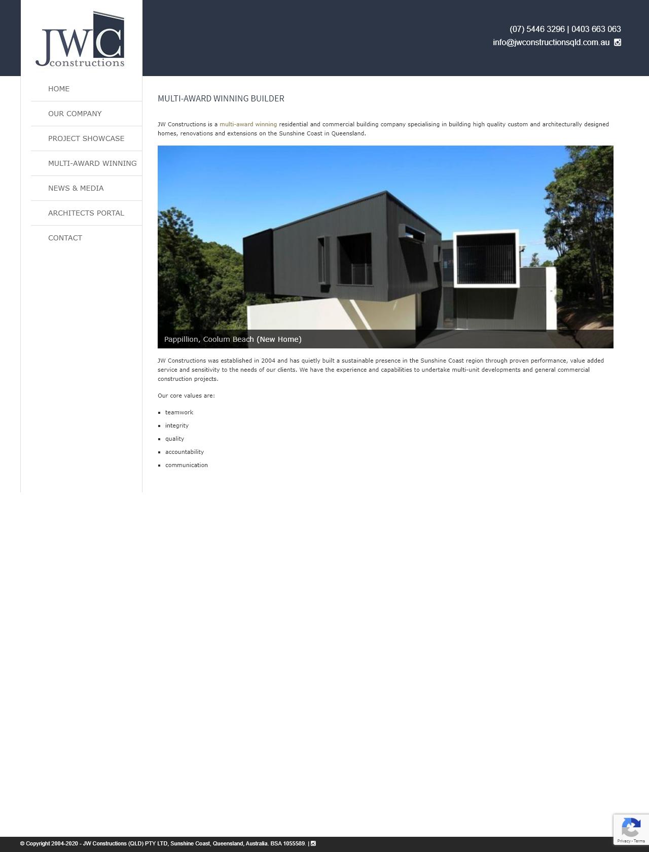 Screenshot Desktop - https://www.jwconstructionsqld.com.au/
