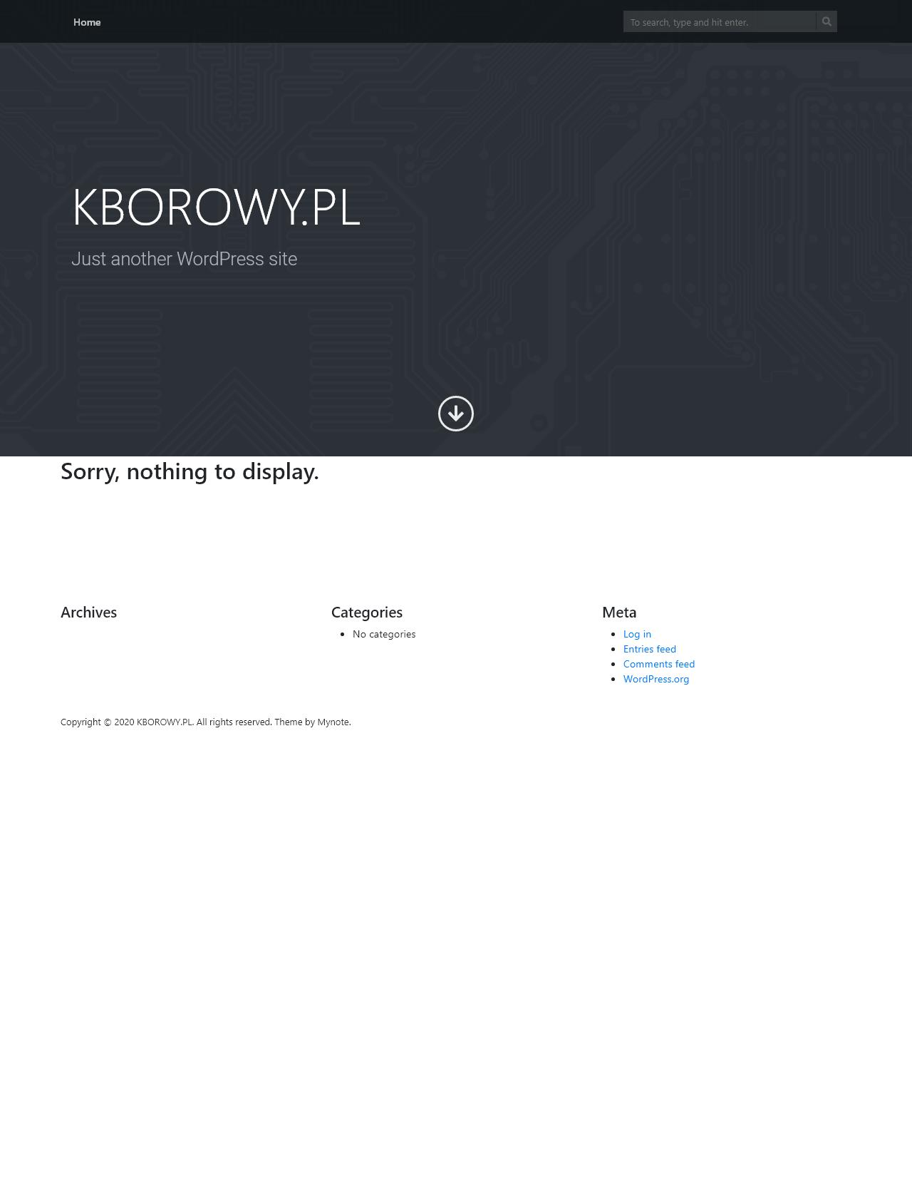Screenshot Desktop - https://www.kborowy.pl/
