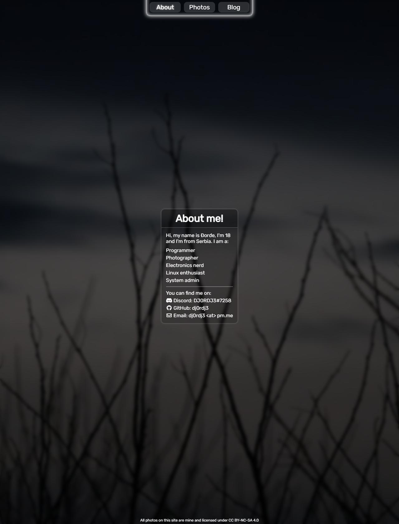 Screenshot Desktop - https://krstic.dev/