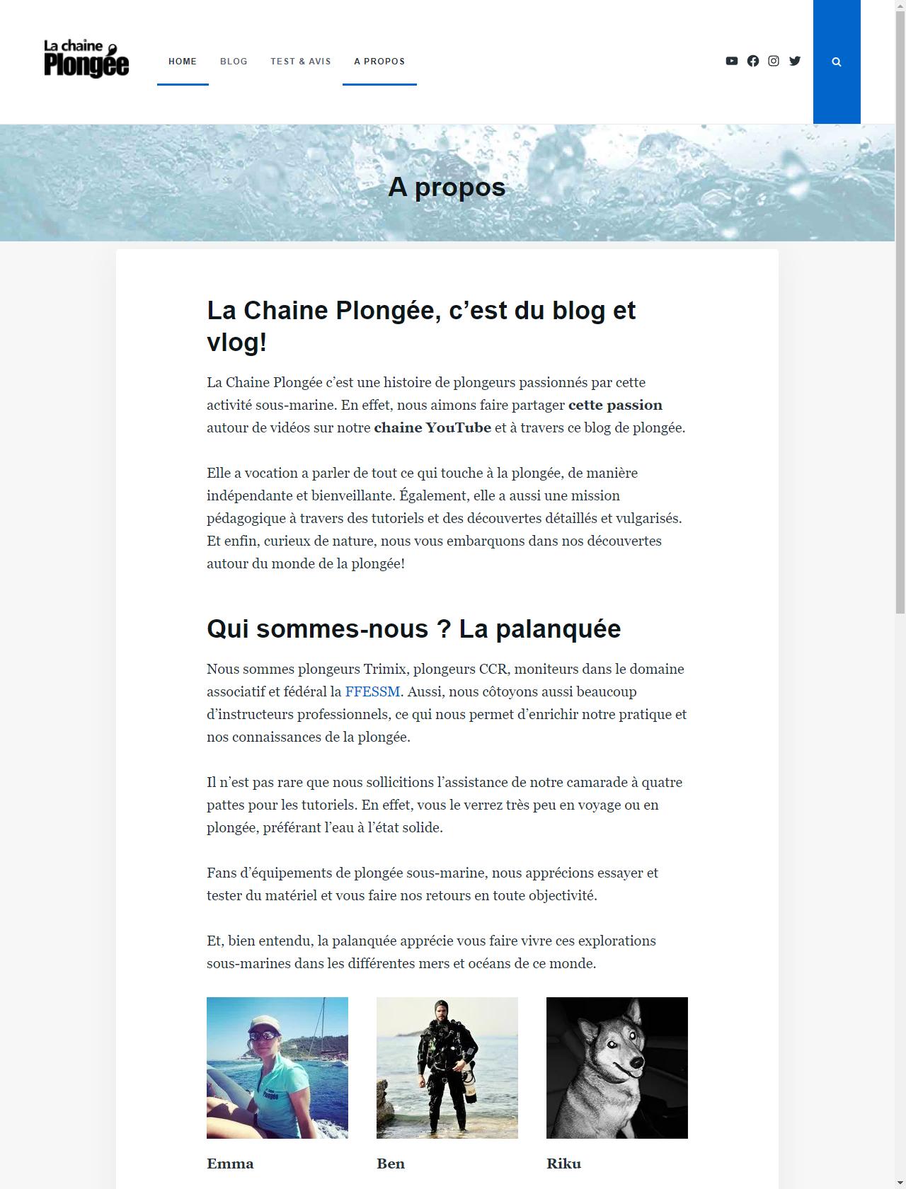 Screenshot Desktop - https://www.lachaineplongee.com/