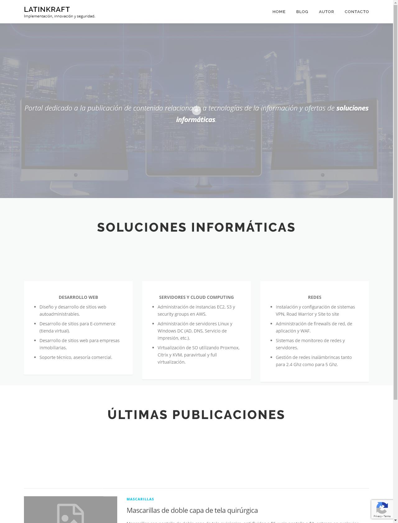 Screenshot Desktop - https://www.latinkraft.com/