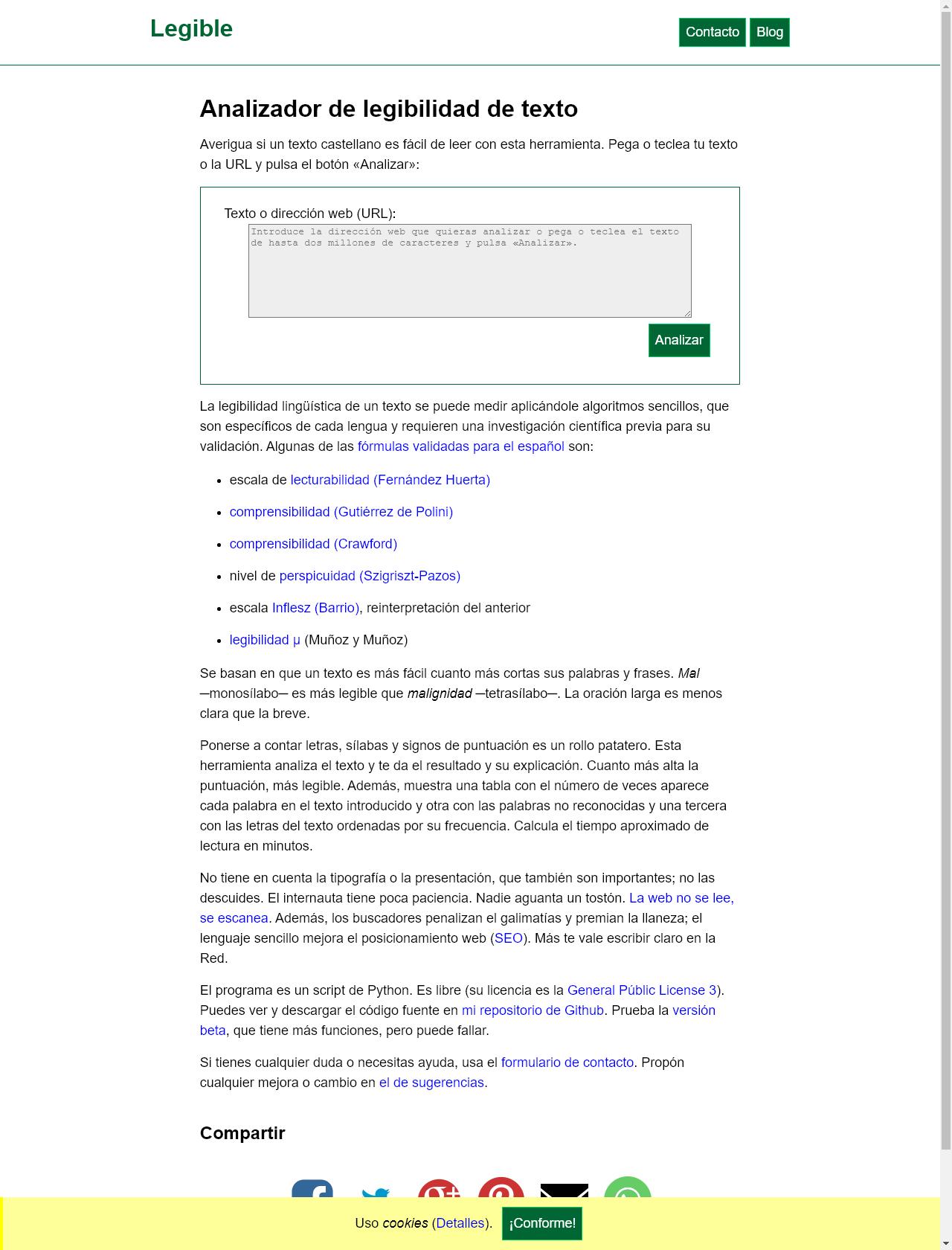 Screenshot Desktop - https://legible.es/