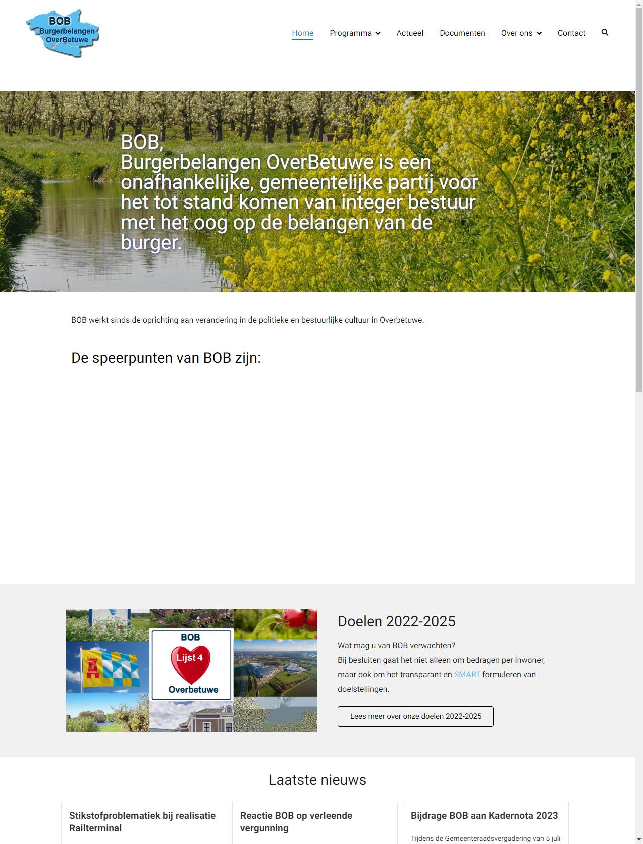 Screenshot Desktop - https://lijstbob.nl/