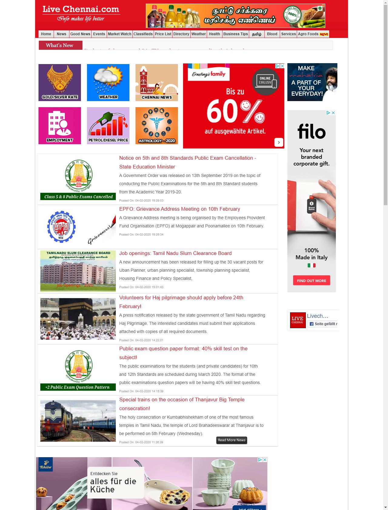 Screenshot Desktop - https://www.livechennai.com/
