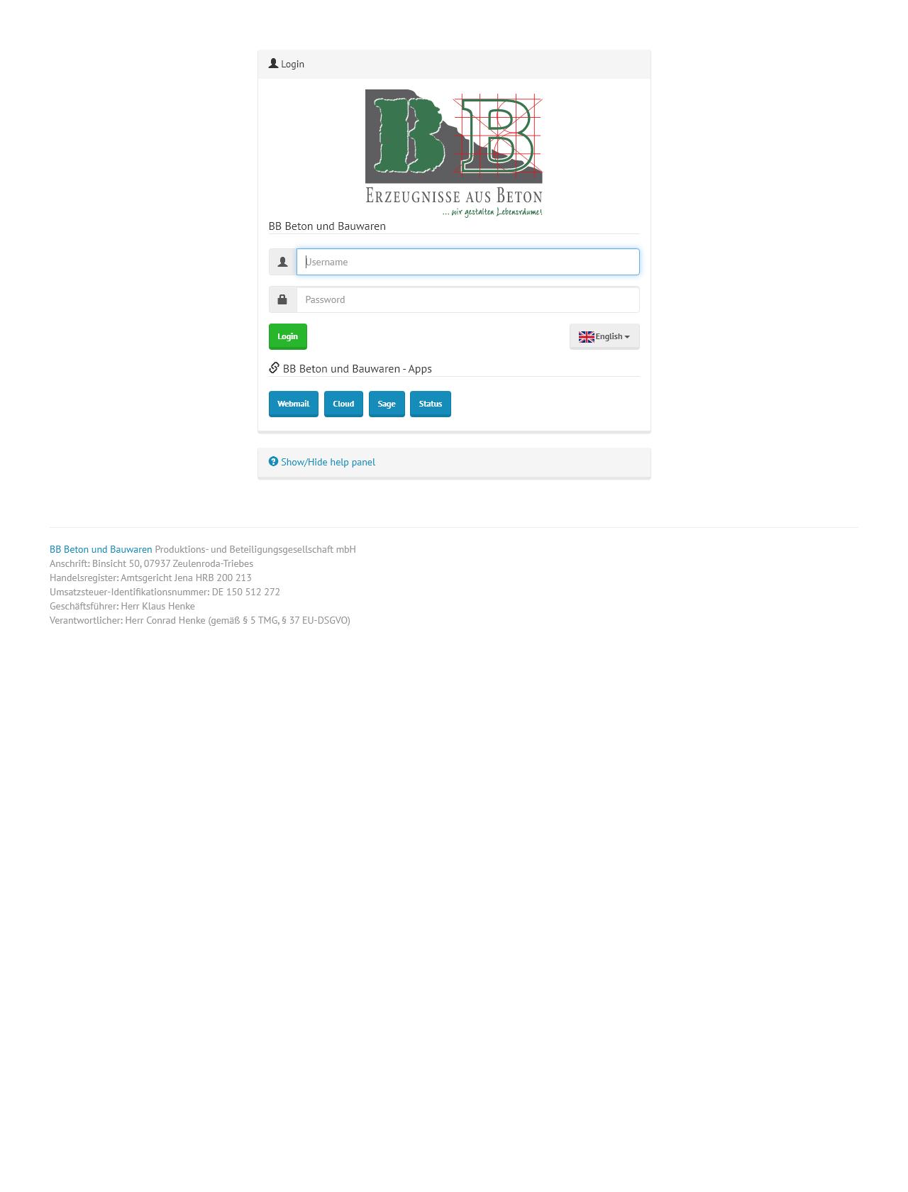 Screenshot Desktop - https://mail.bbbeton.de/